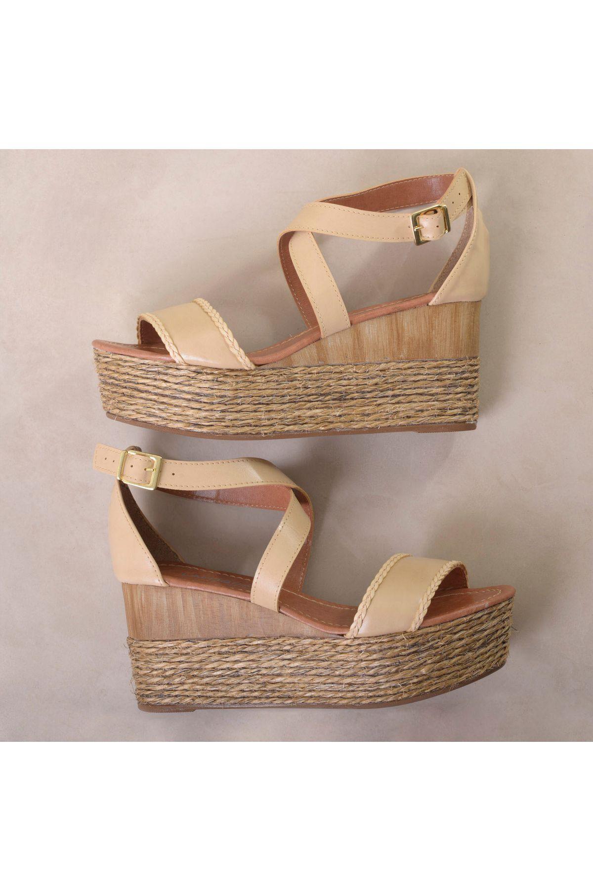 9858f4911 Sandália Anabela Lafosca Torez   Mundial Calçados - Mundial Calçados