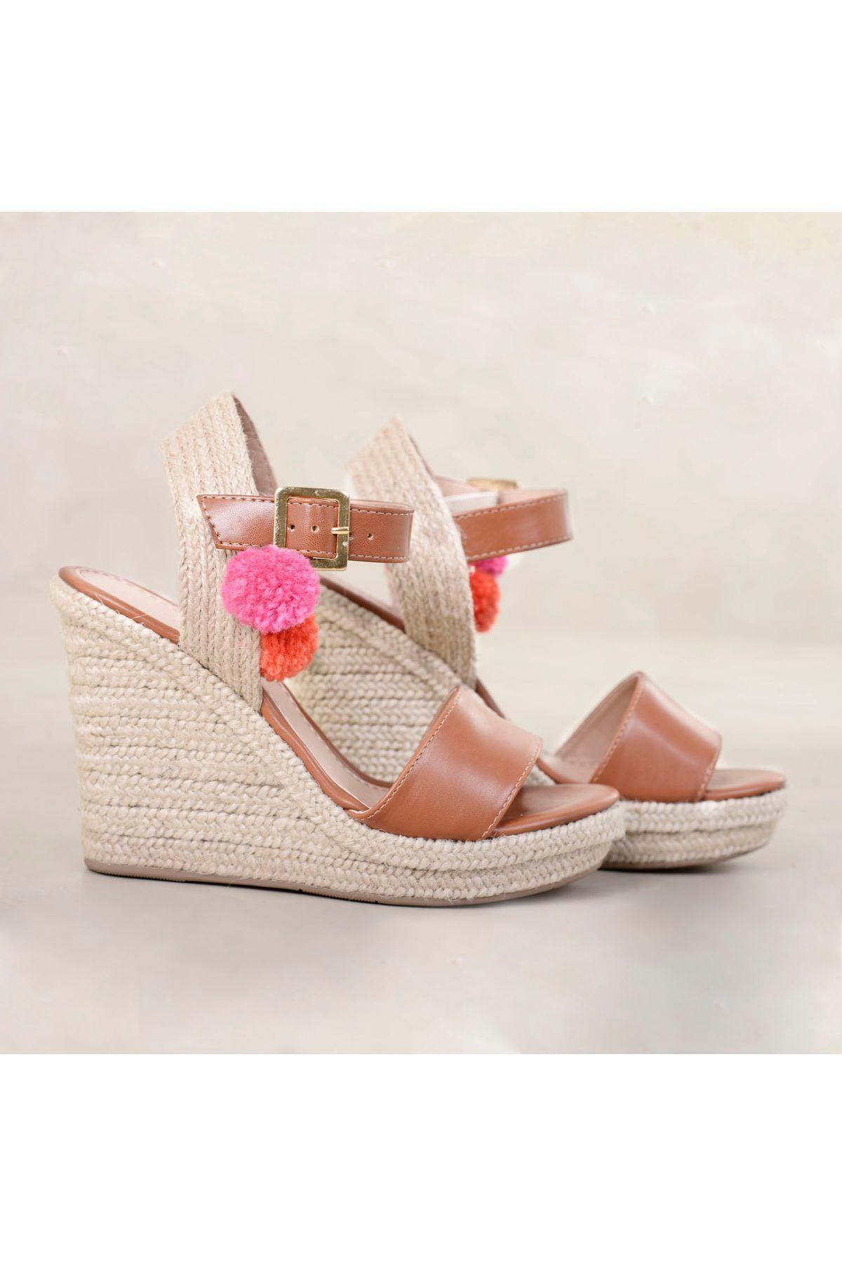 ee6e31091 Sandália Anabela Lafosca Damaris   Mundial Calçados - Mundial Calçados