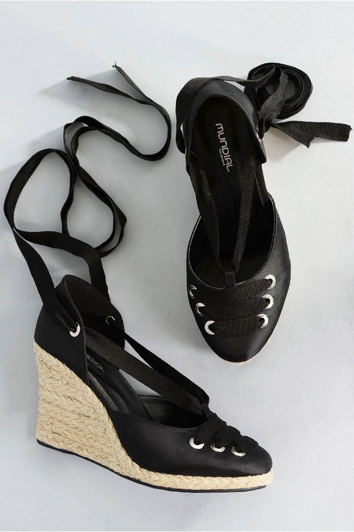 4fa51e6637 Sapato Feminino Anabela Fabrizia Mundial