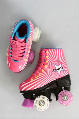 2_Patins_Bouts_Skid_Led_Pink