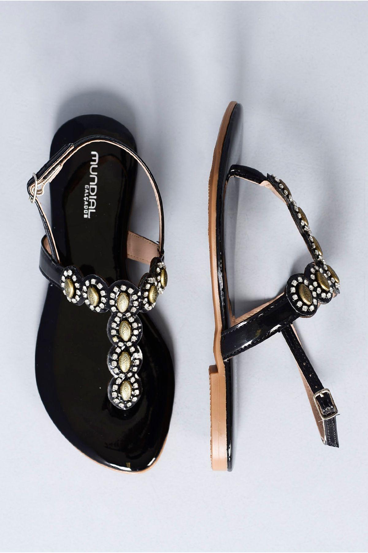 6f5336328 Sandália Feminina Rasteira Cathy Mundial | Mundial Calçados ...