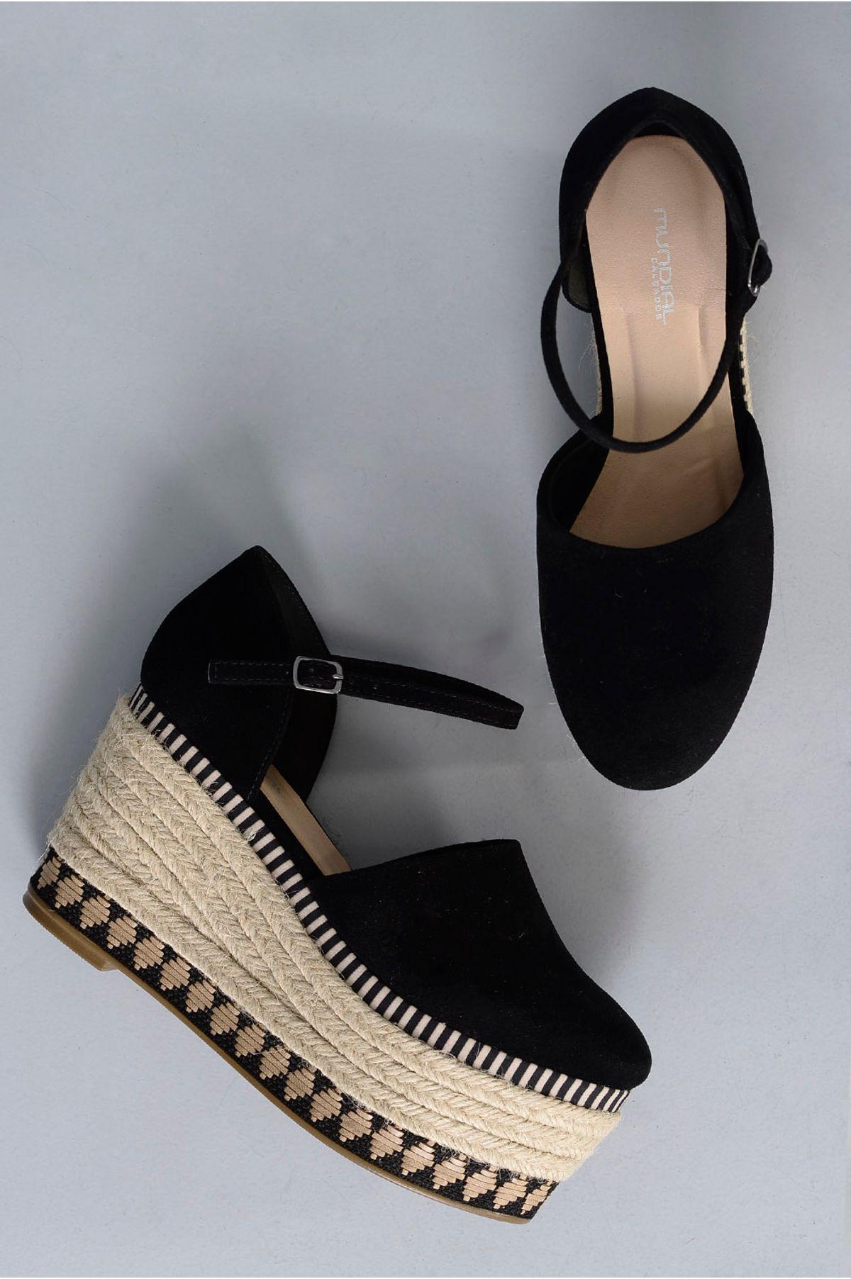 df40de9427 Sapato Feminino Plataforma Jenny Mundial