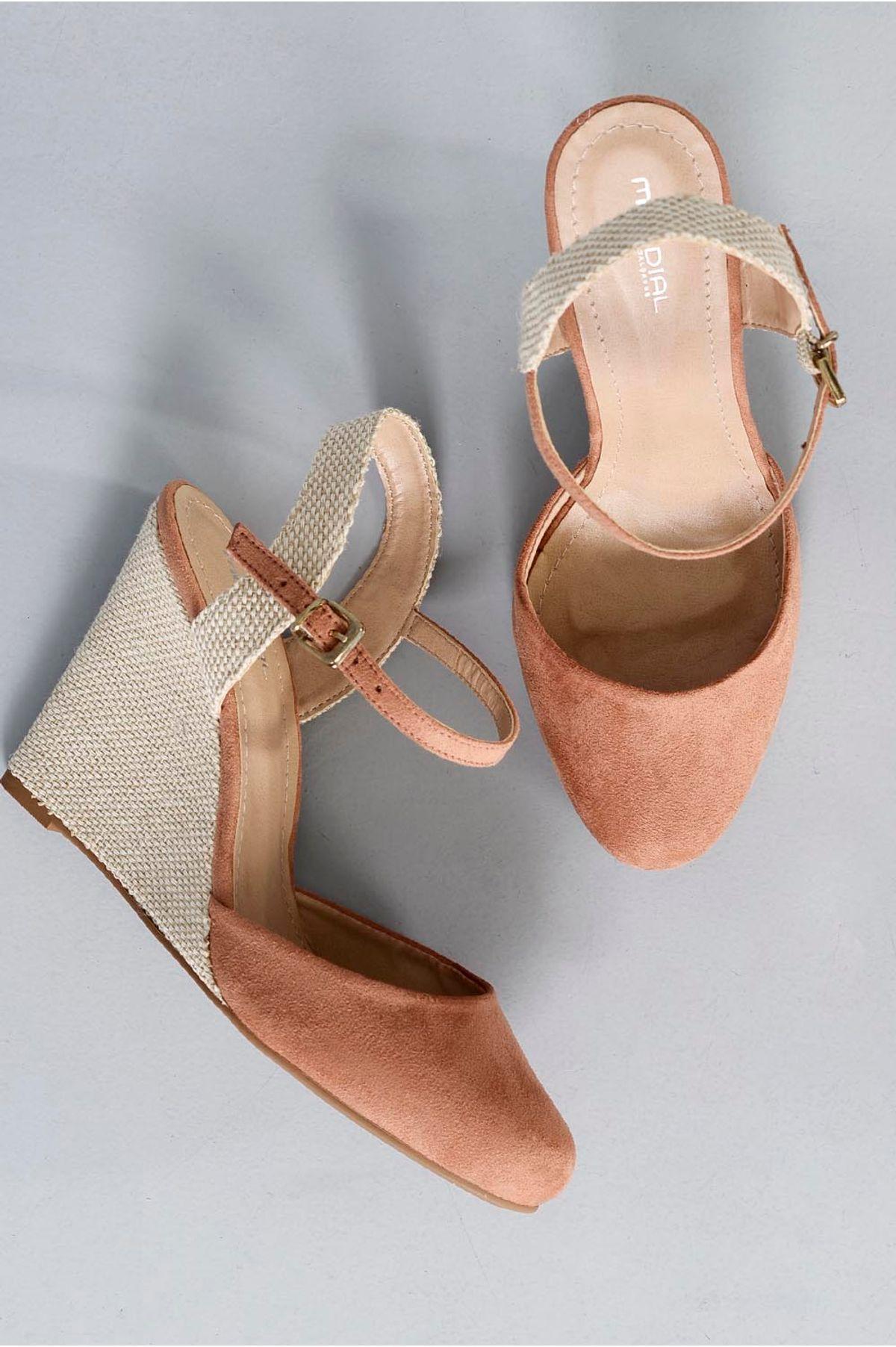 2feee5814 Sapato Feminino Anabela Leona Mundial   Mundial Calçados - Mundial ...