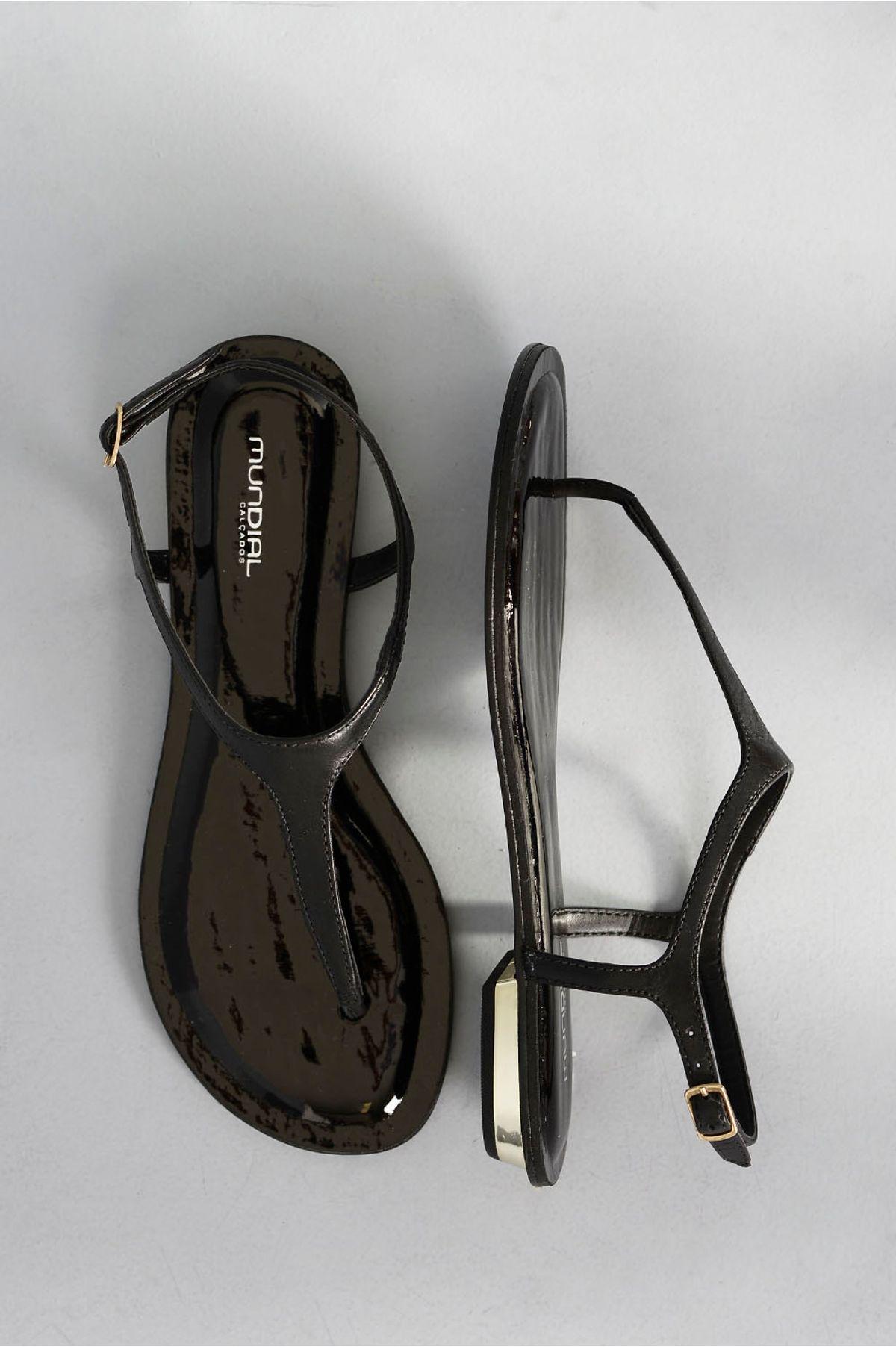 655f37d0d Sandália Feminina Rasteira Tanya Mundial | Mundial Calçados ...