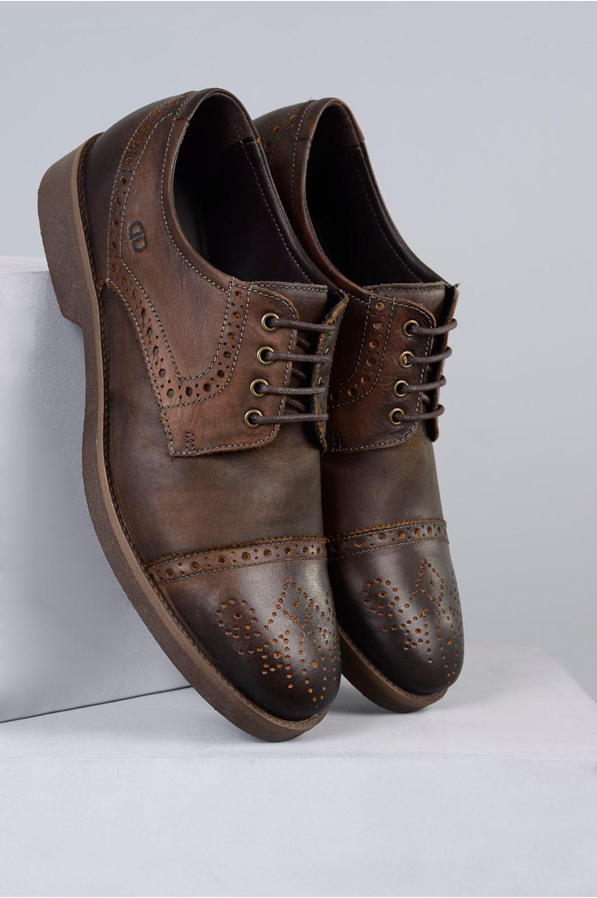 48c3e2937dc Sapato Masculino Democrata Smith TABACO - Mundial Calçados