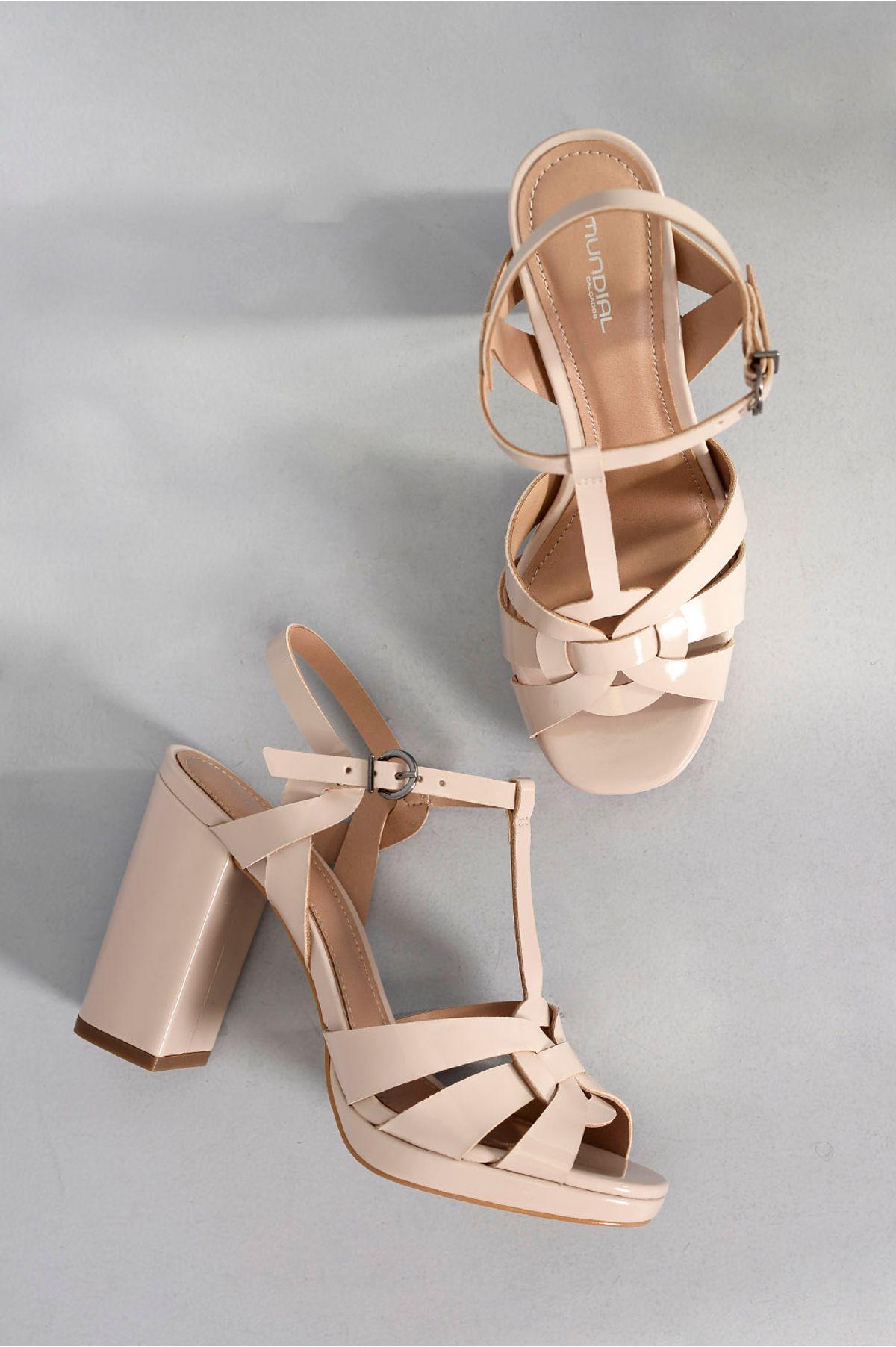 d2fd66643 Sandália Feminina Salto Alto Marion Mundial OFF WHITE - Mundial Calçados