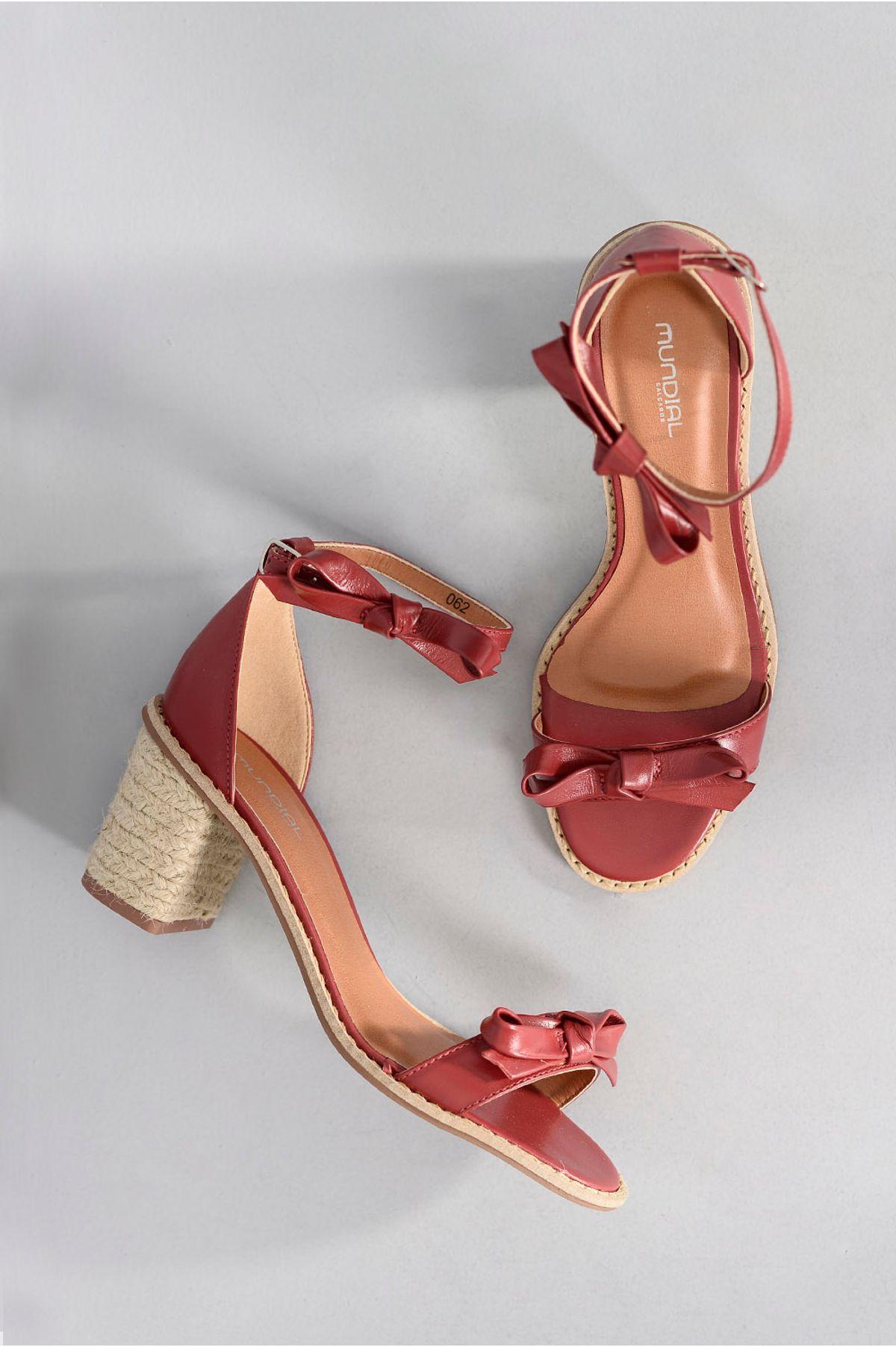 e2ab639ae Sandália Feminina Salto Médio Martha Mundial VERMELHO - Mundial Calçados