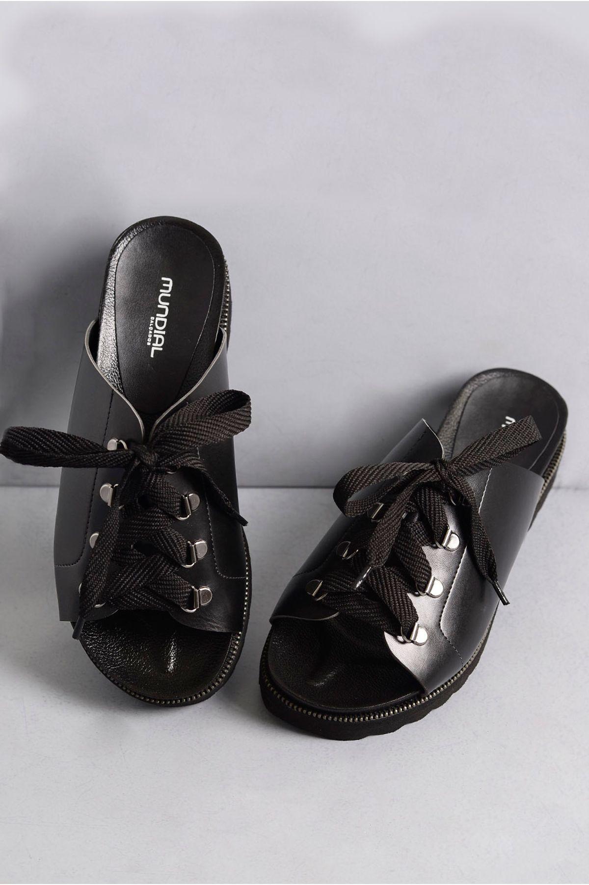 b5fd0ba269 Tamanco Feminino Anabela Madelyn Mundial PRETO - Mundial Calçados