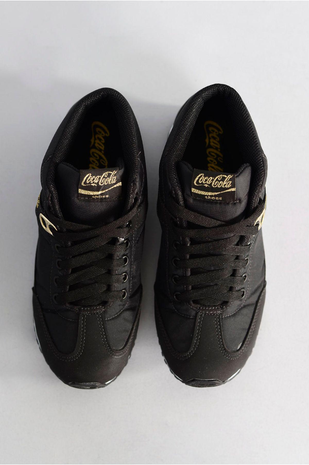 f1b4ec511 Tênis Coca Cola Place PRETO - Mundial Calçados