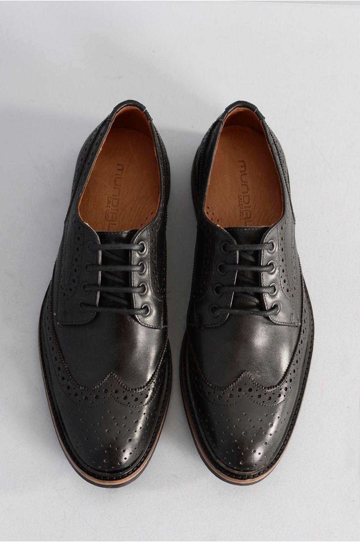 402bd76744 Sapato Masculino Social Fabio Mundial PRETO - Mundial Calçados