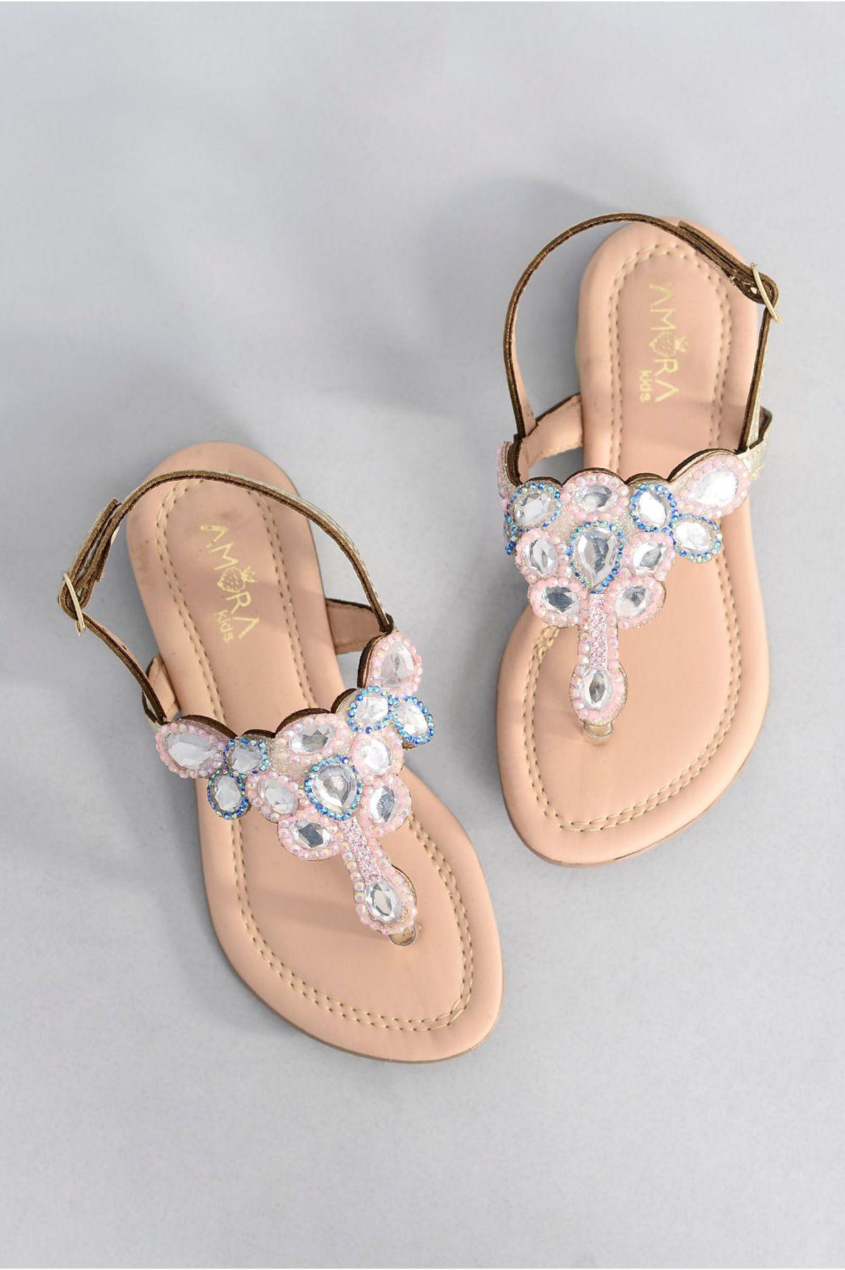 bc81ea756f Sandália Infantil Rasteira Nyna Amora Kids OURO - Mundial Calçados