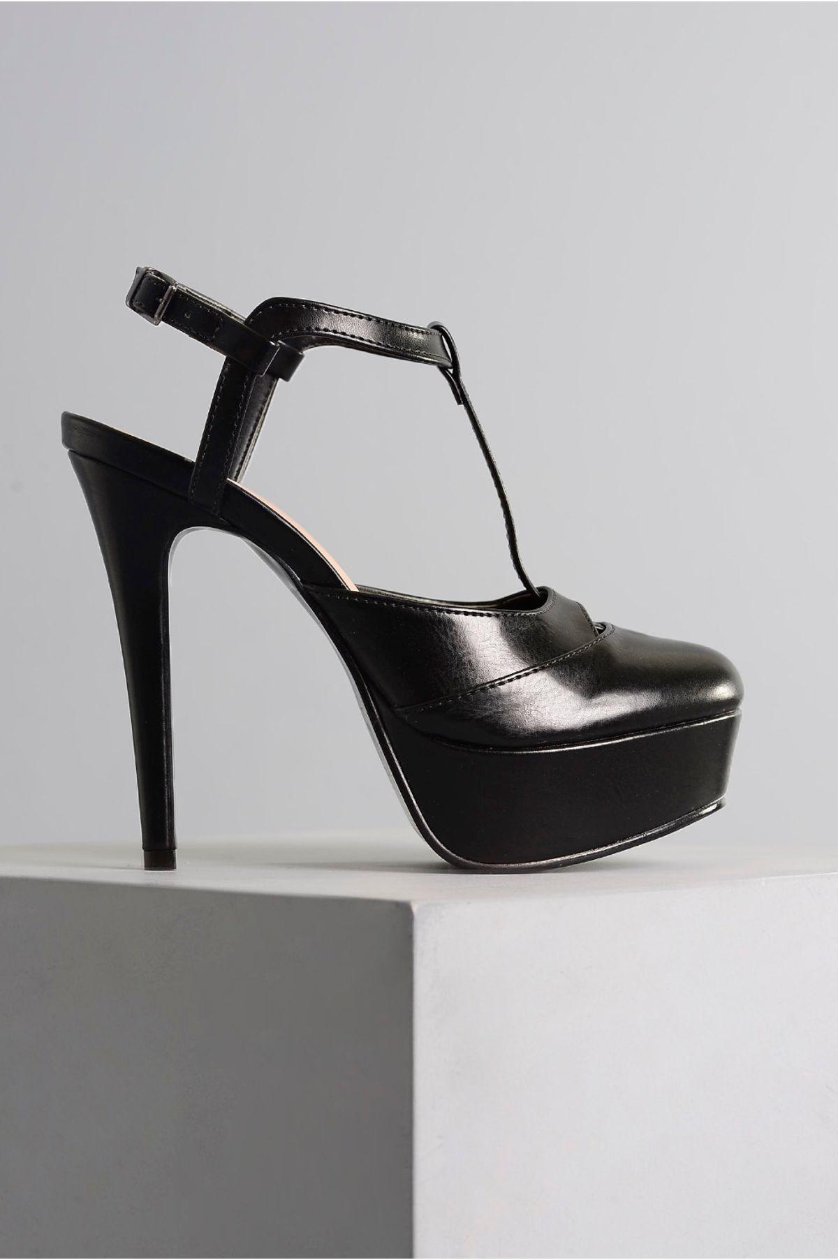 1a22e24e6f Sapato Feminino Salto Alto Karly Mundial PRETO - Mundial Calçados