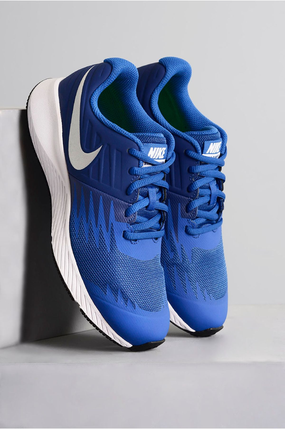 Tênis Infantil Teen Nike Star Runner AZUL - Mundial Calçados 2c9e18151a1e5