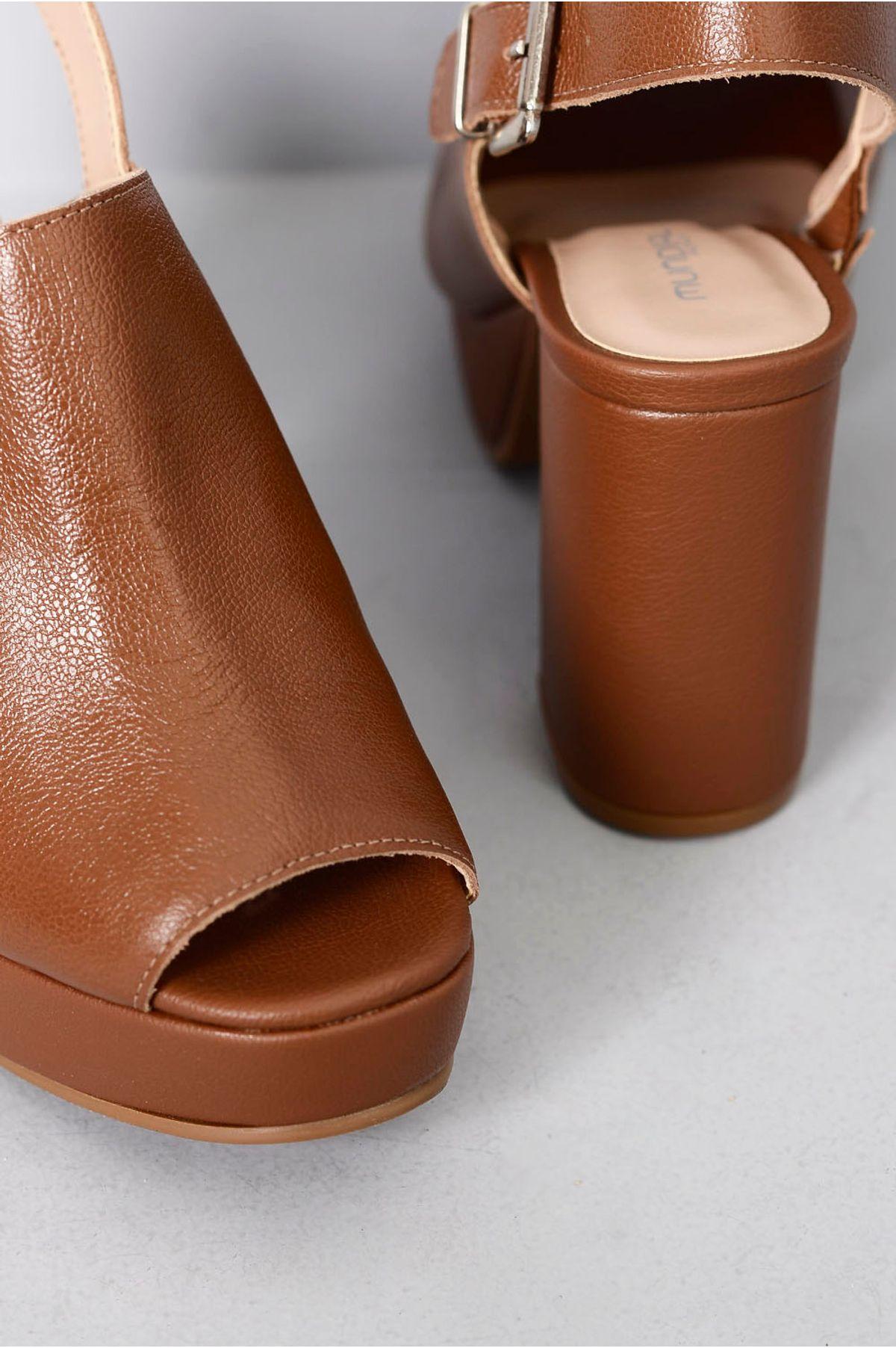 6a92b038b Sandália Salto Alto Clara Mundial CR-CARAMELO - Mundial Calçados
