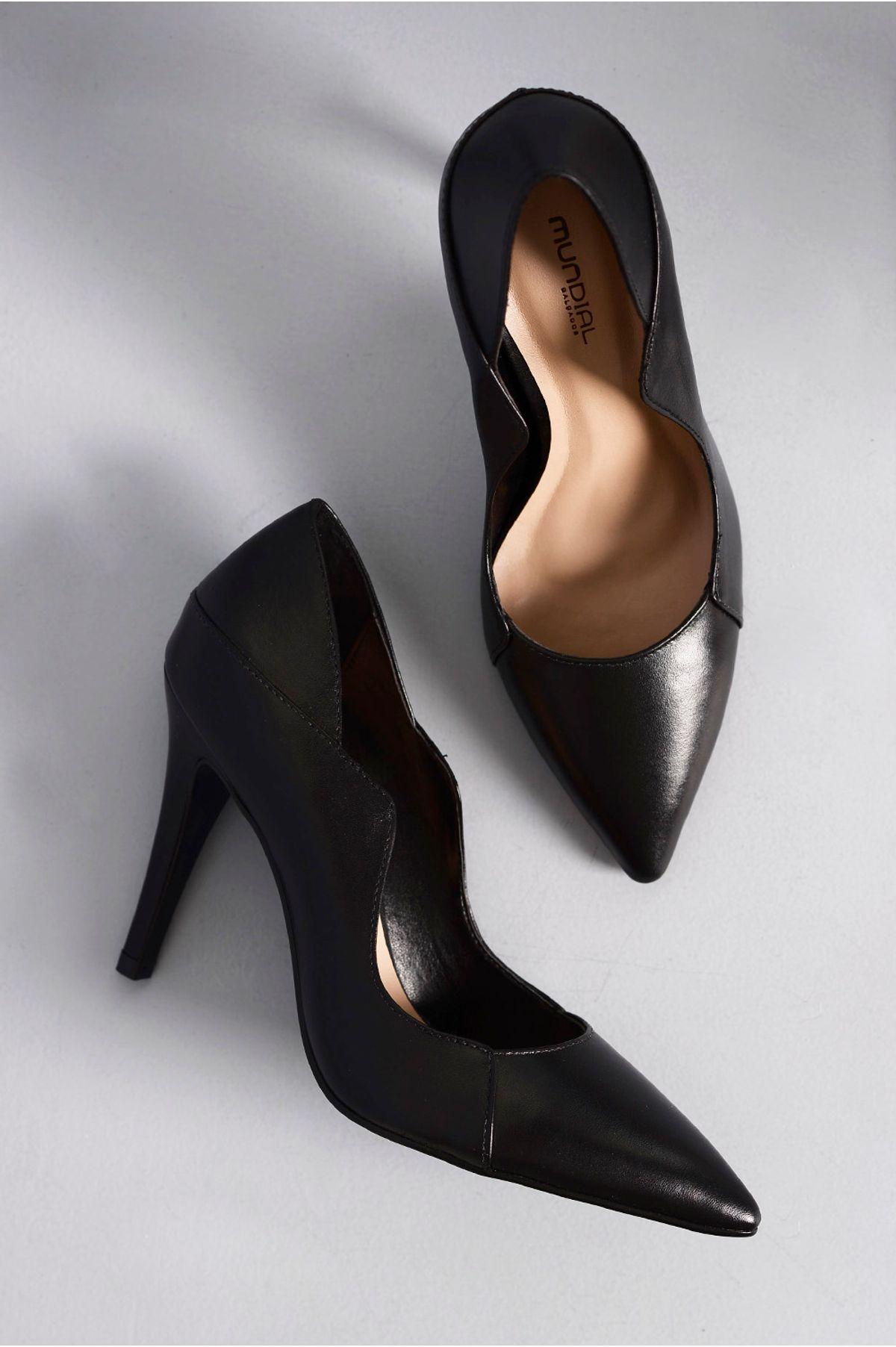 5c36c0710c Scarpin Feminino Salto Alto Faye Mundial CR-PRETO - Mundial Calçados