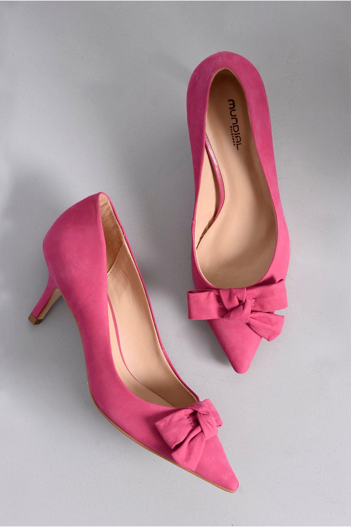 f2c21b038c Scarpin Feminino Salto Médio Edith Mundial NB - PINK - Mundial Calçados