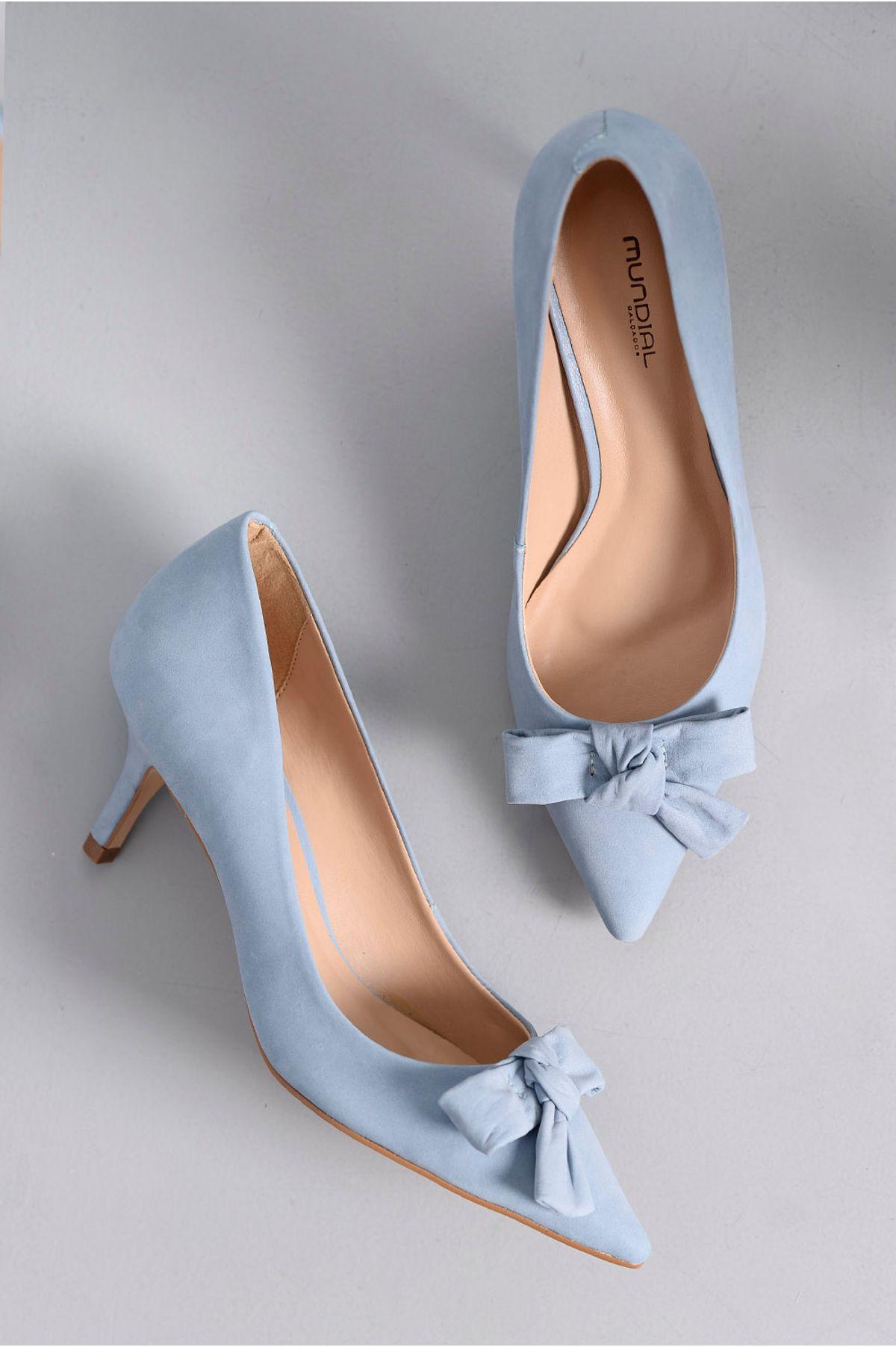 7e764c5238 Scarpin Feminino Salto Médio Edith Mundial NB - AZUL - Mundial Calçados