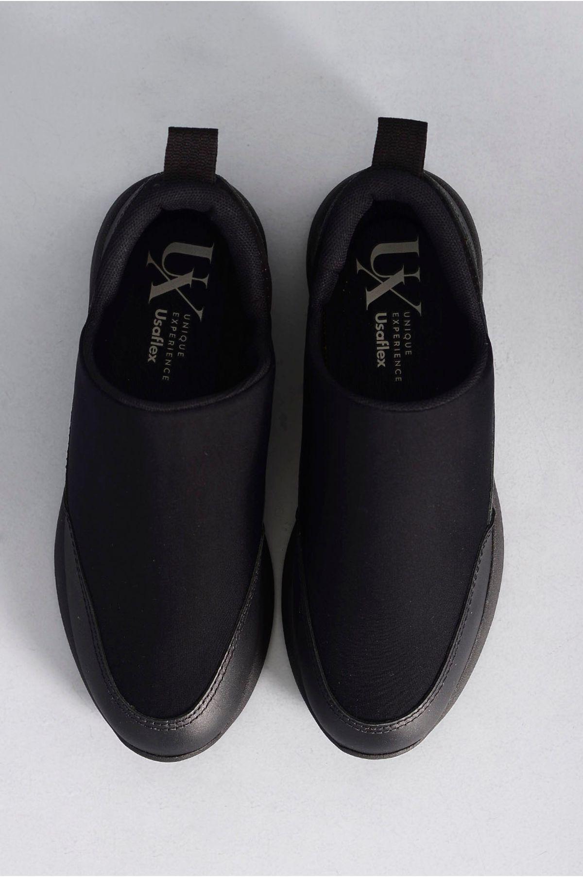 b400b484c Sapatênis Masculino Usaflex Foulard PRETO - Mundial Calçados