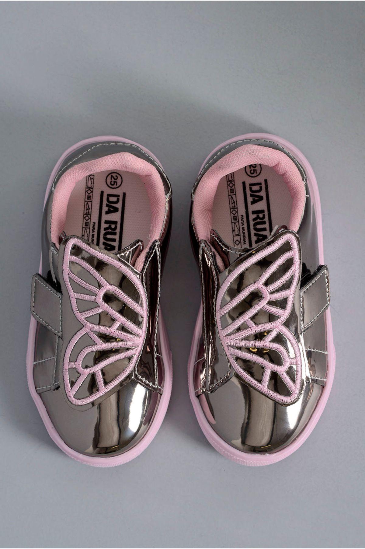5c1e7e22e8a Tênis Infantil Butterfly Da Rua SINT - ONIX - Mundial Calçados