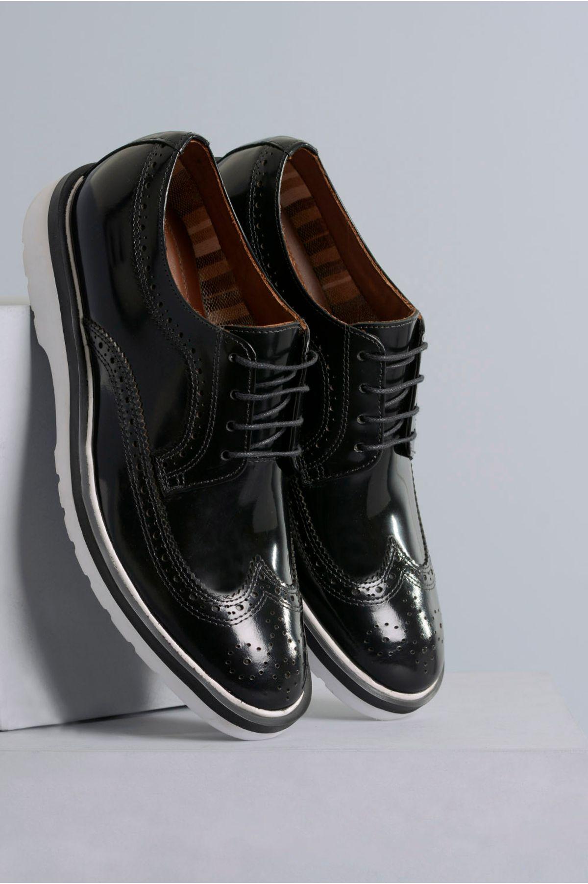 0b2b02f55e Sapato Masculino Eduardo Mundial CR-PRETO - Mundial Calçados