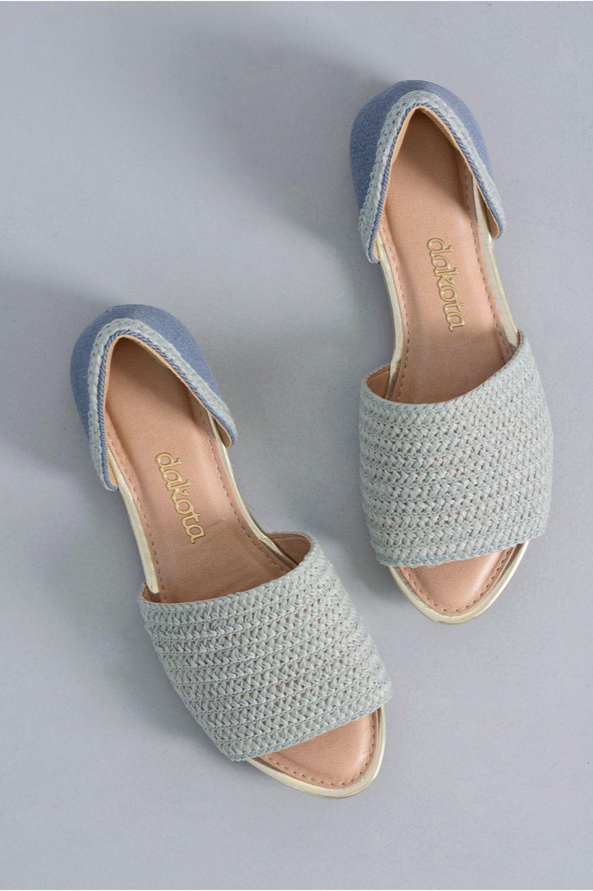 45f178b82 Sandália Feminina Crochê Petra Dakota TEC - AZUL - Mundial Calçados