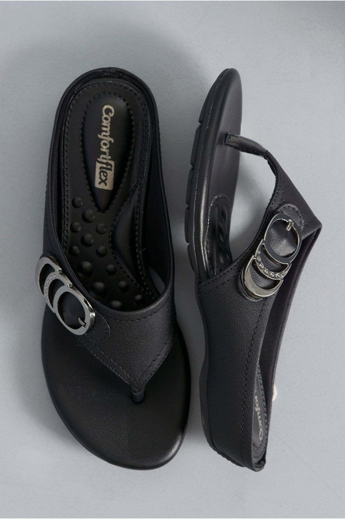 2a4ca3681 Chinelo Feminino Nelda Comfort Flex SINT - PRETO - Mundial Calçados