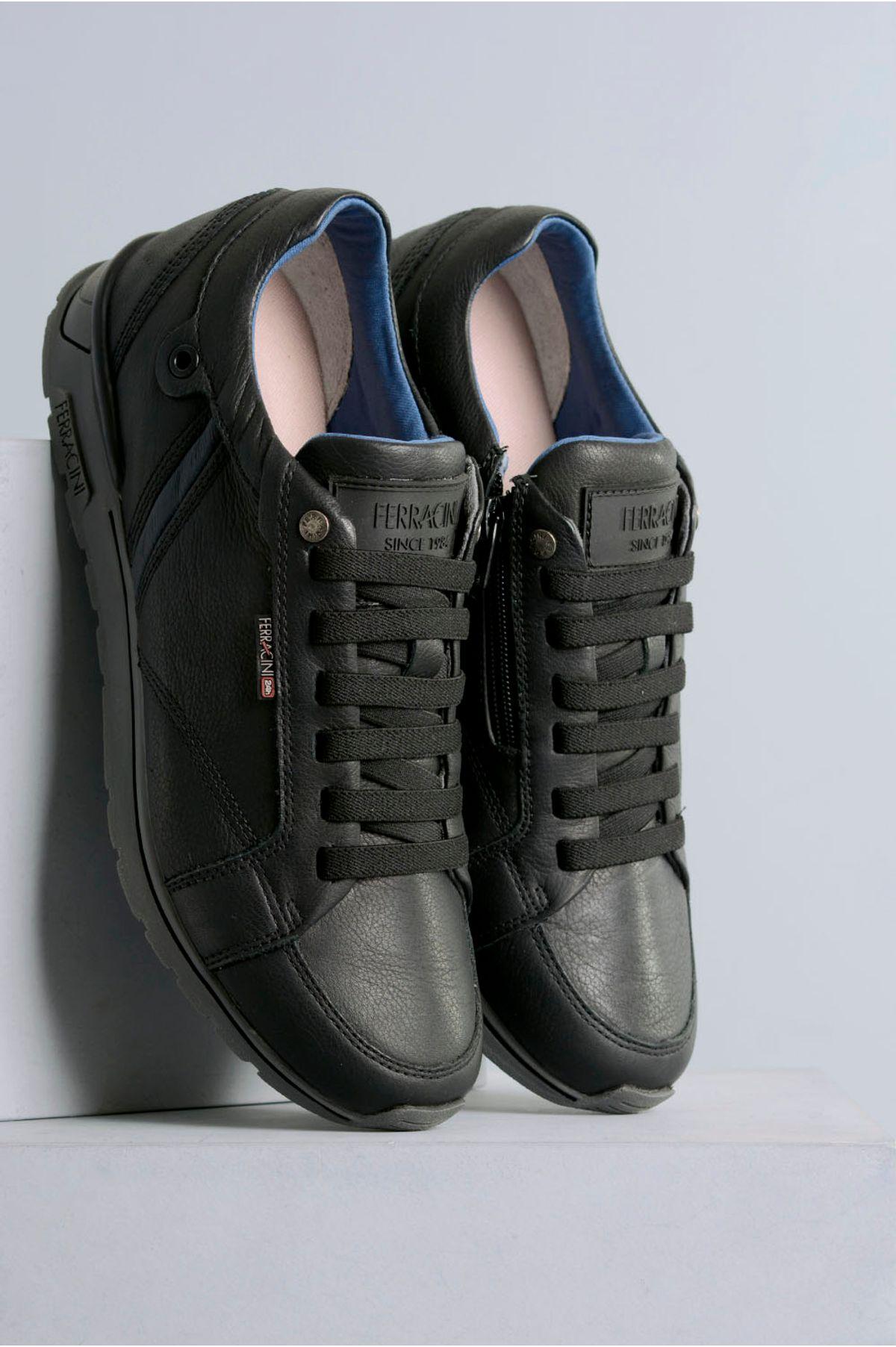9df71adb7c Sapatênis Masculino Ferracini Califa CR-PRETO - Mundial Calçados