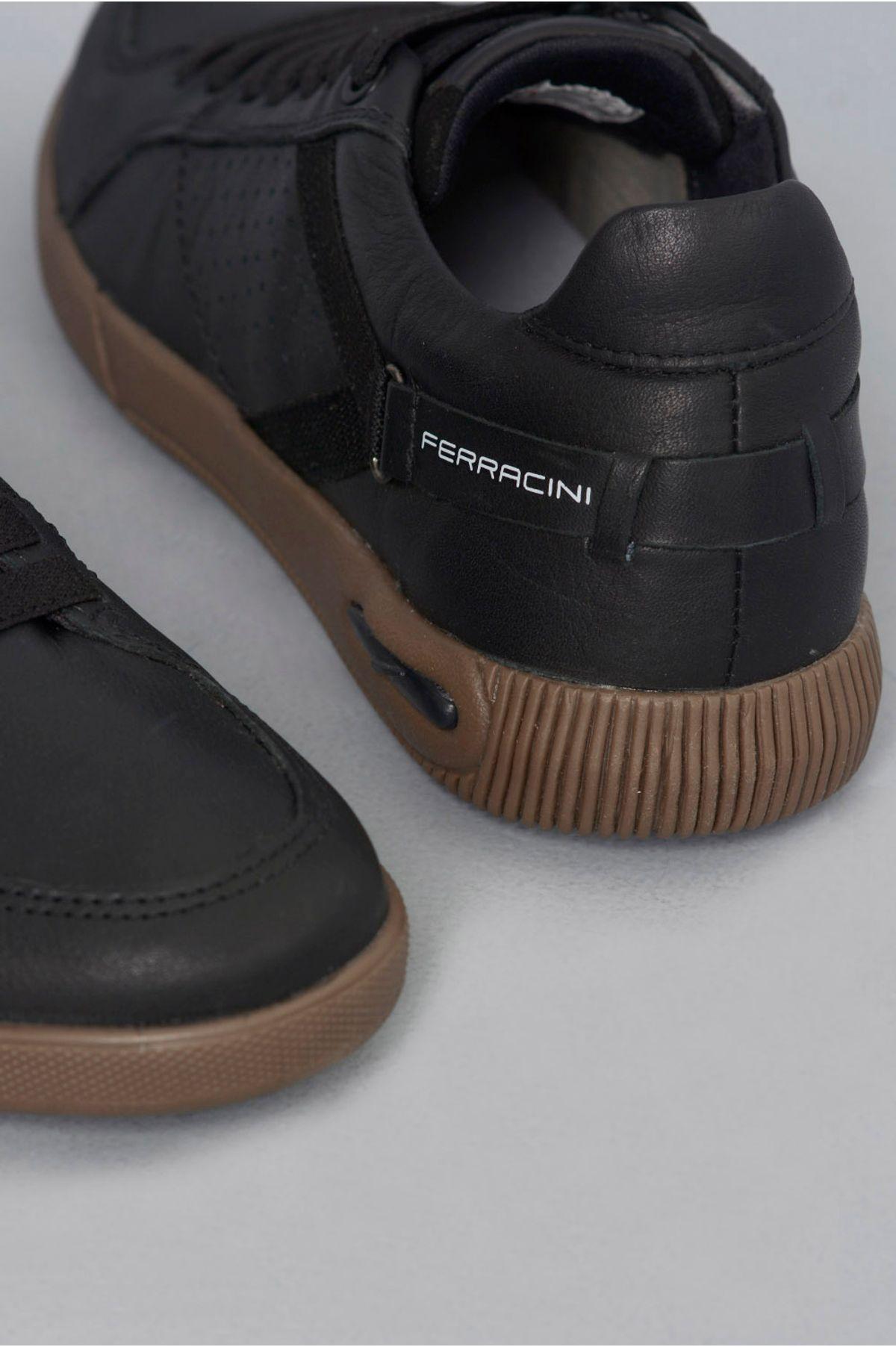2a086e71b076b Sapatênis Ferracini Blady CR-PRETO - Mundial Calçados