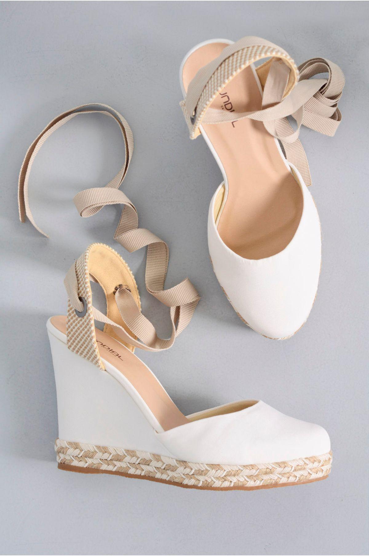 d54bd5018 Sapato Feminino Anabela Consuelo Mundial TEC - BRANCO - Mundial Calçados