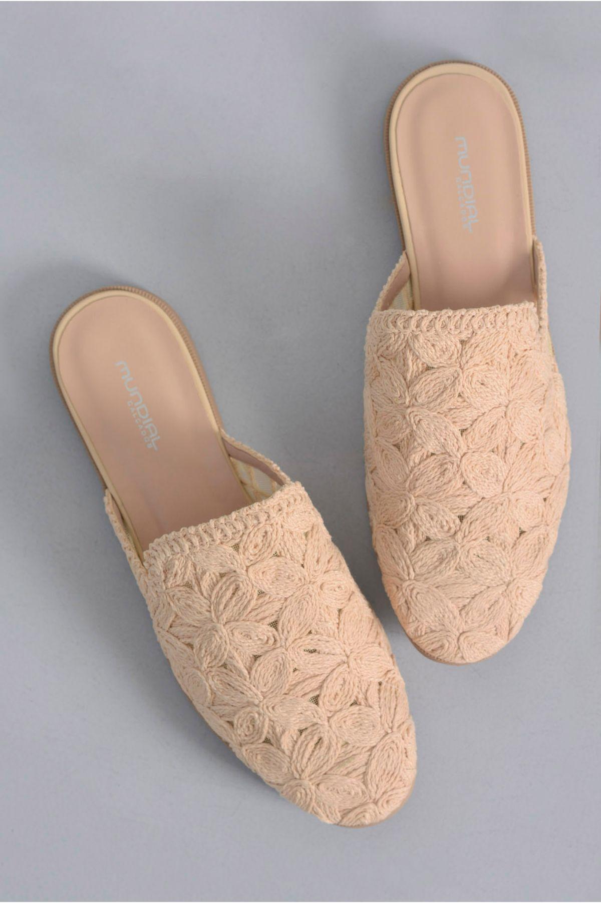 2988aae78 Mule Feminino Constance Mundial TEC - NUDE - Mundial Calçados