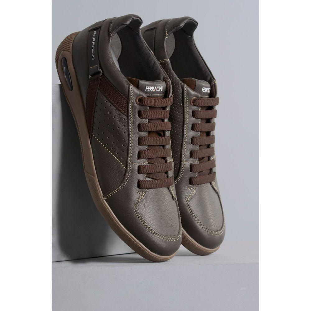 Mundial Calçados  Masculino  Sapatênis · Casual ·  1 Sapatenis Masculino Ferracini Blady MARROM de2177990f7a1