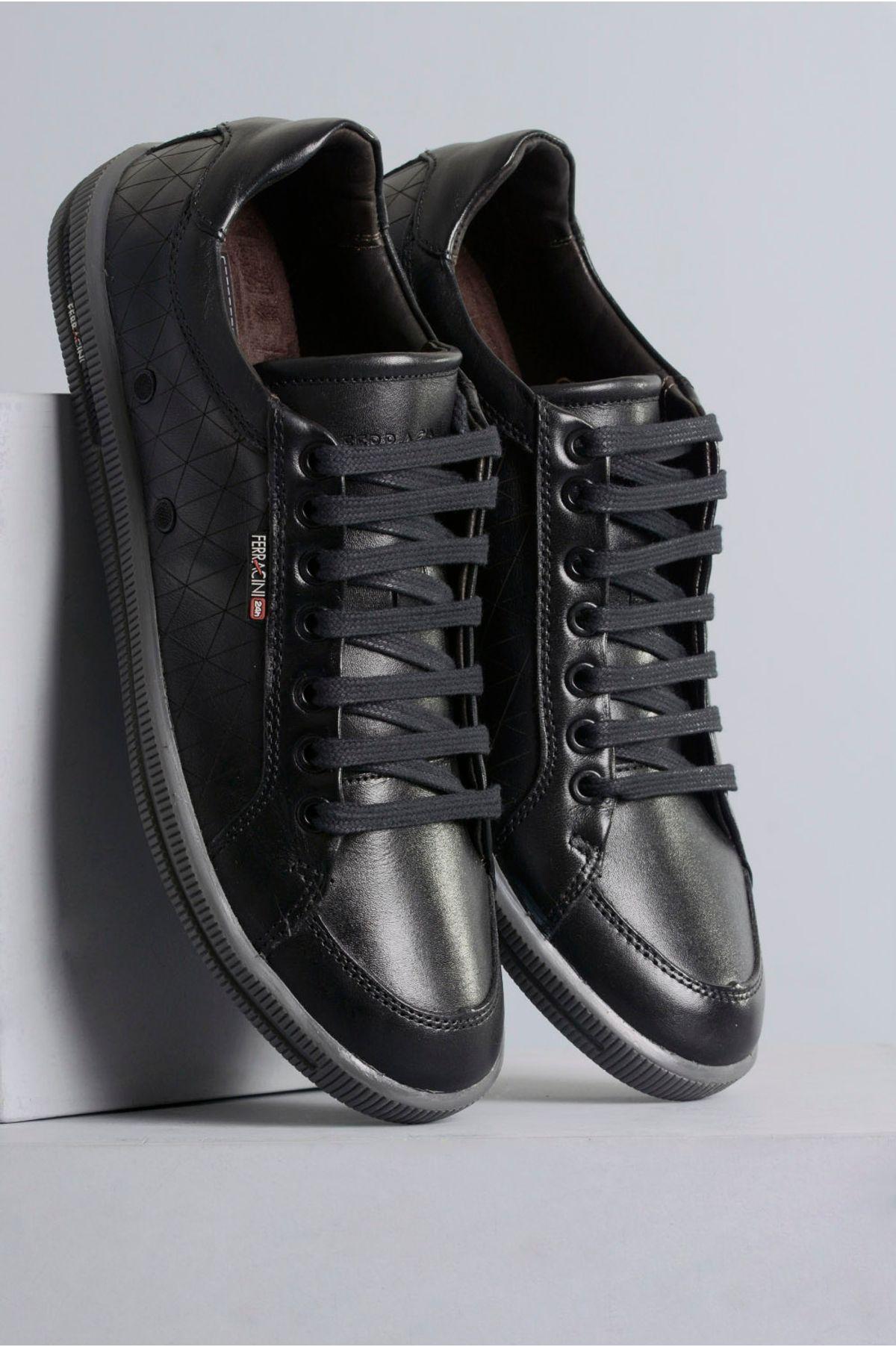 eb143f20b Sapatênis Masculino Ferracini Soho CR-PRETO - Mundial Calçados