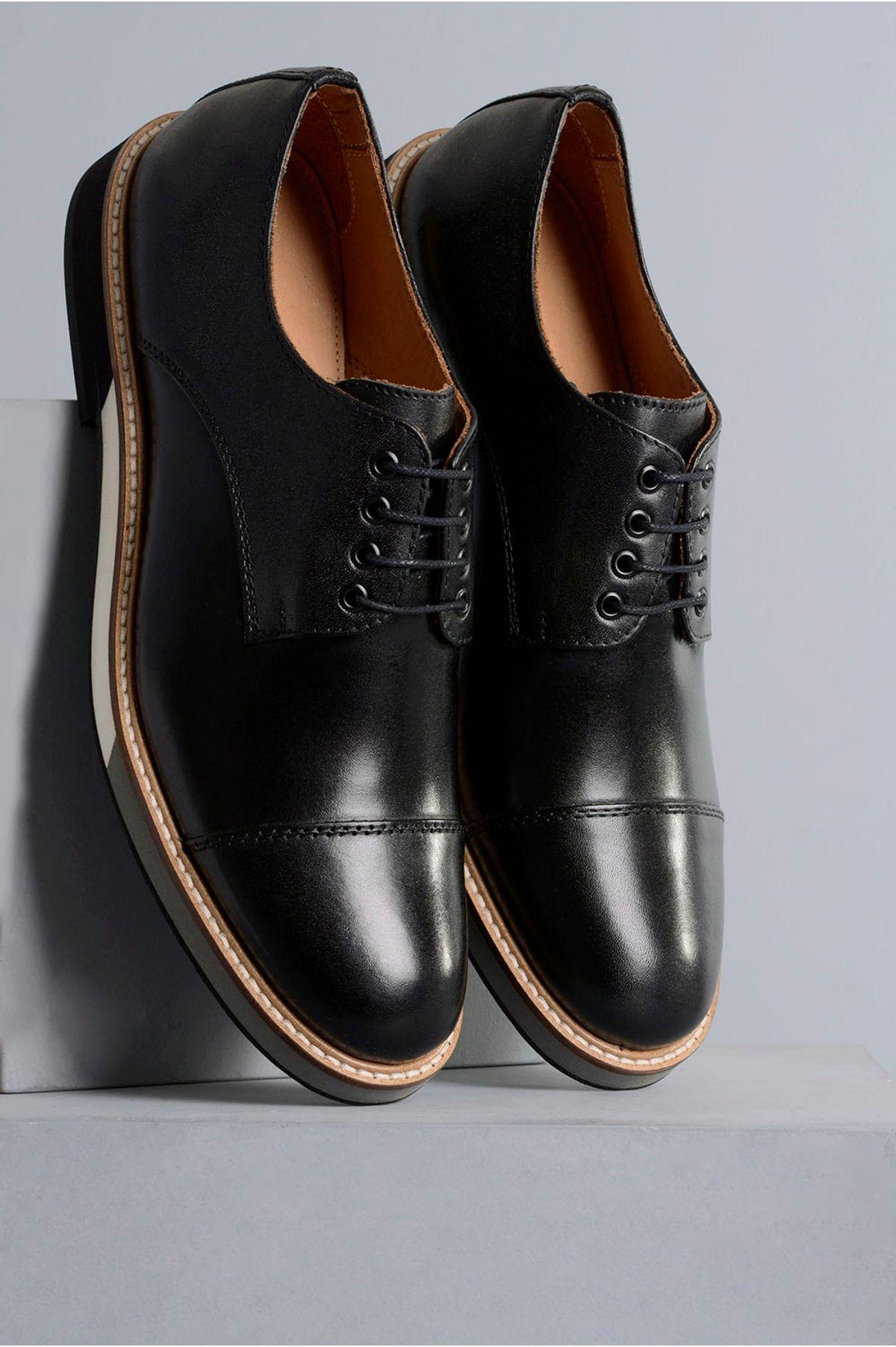 6a4cab2b7 Sapato Masculino Marcio Mundial CR-PRETO - Mundial Calçados
