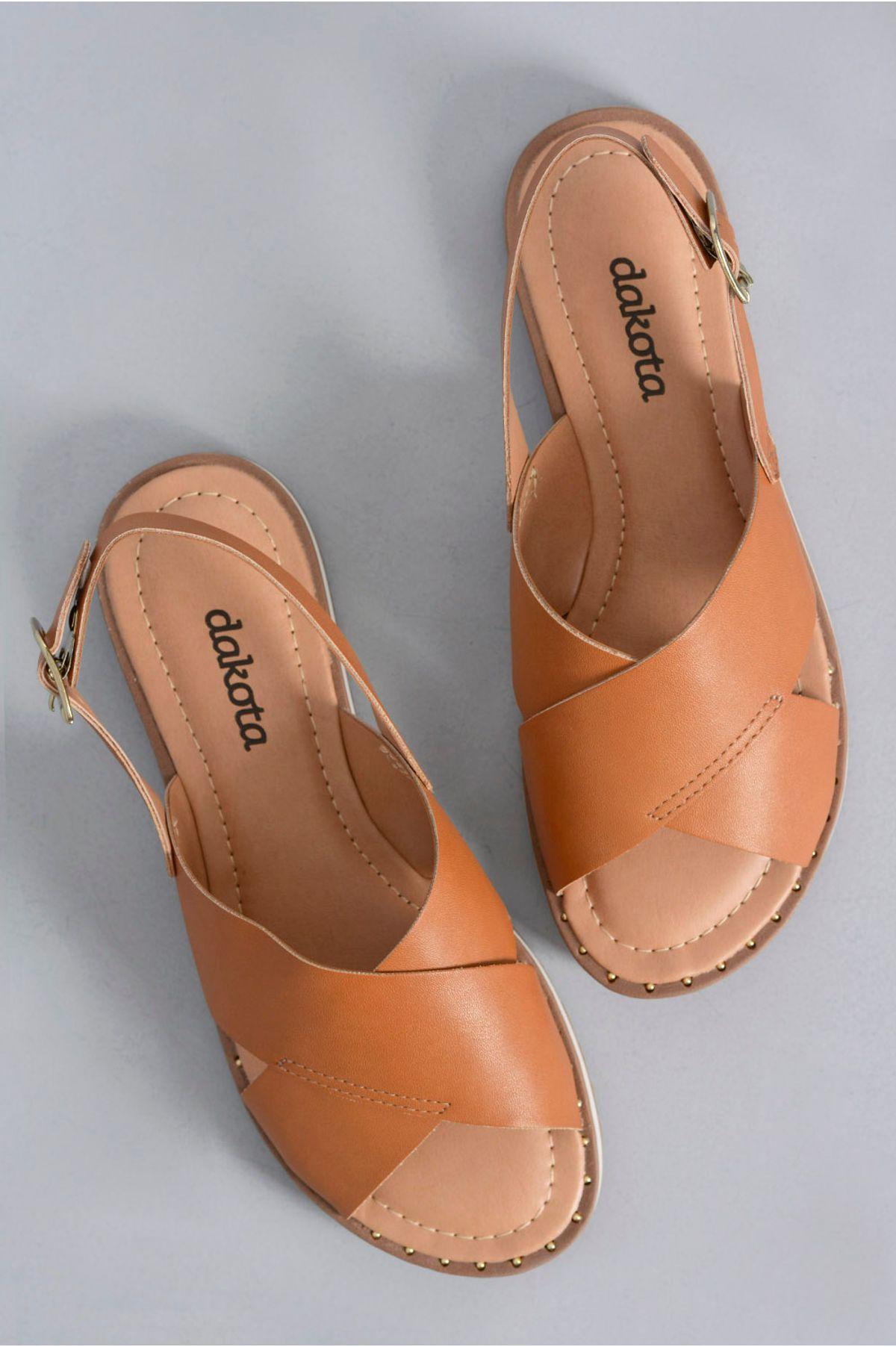 226f8cd9c Sandália Feminina Reyna Dakota SINT - CARAMELO - Mundial Calçados