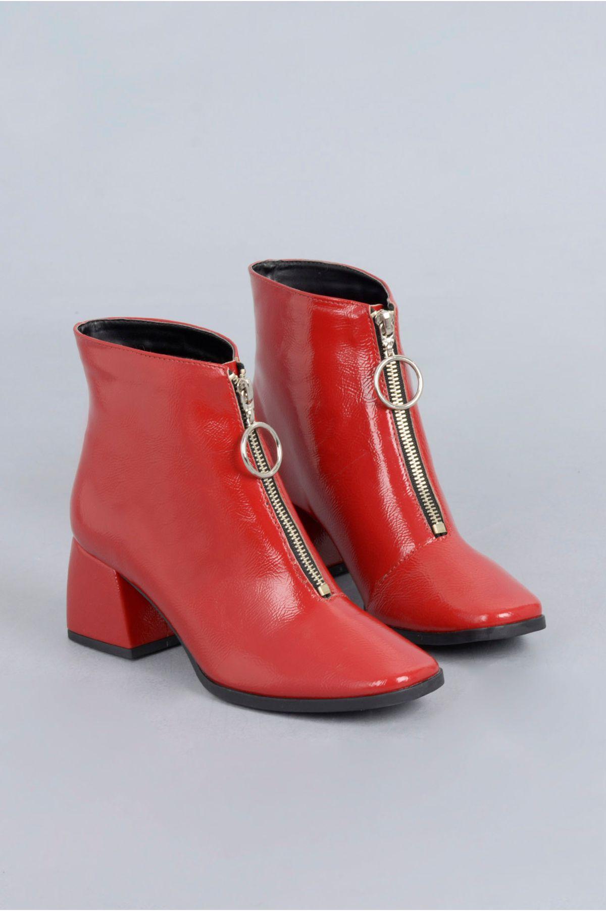 325ac0b8f6 Ankle Boot Chloe Mundial VERNIZ - VERMELHO - Mundial Calçados