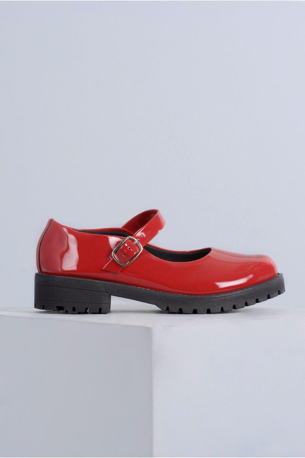 800e1cb1298 Sapato Feminino Boneca Cleo Mundial VERNIZ - VERMELHO - Mundial Calçados
