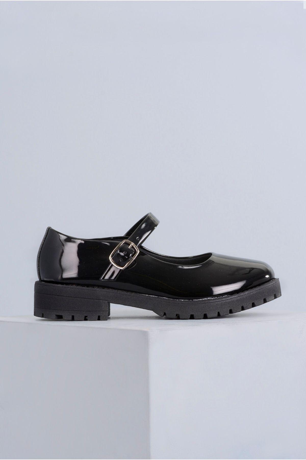 48d867dbd4 Sapato Feminino Boneca Cleo Mundial VERNIZ PRETO - Mundial Calçados