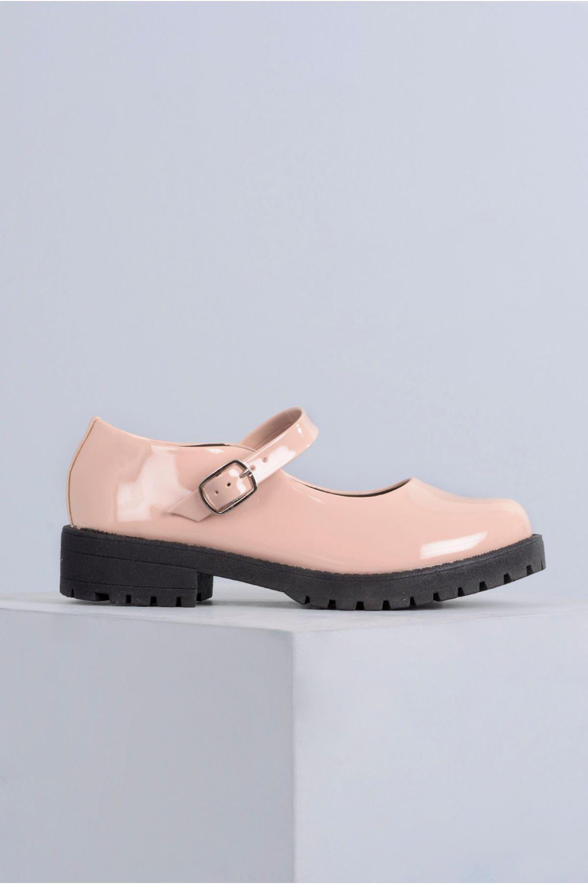 025db98694 Sapato Feminino Boneca Cleo Mundial VERNIZ - BEGE - Mundial Calçados