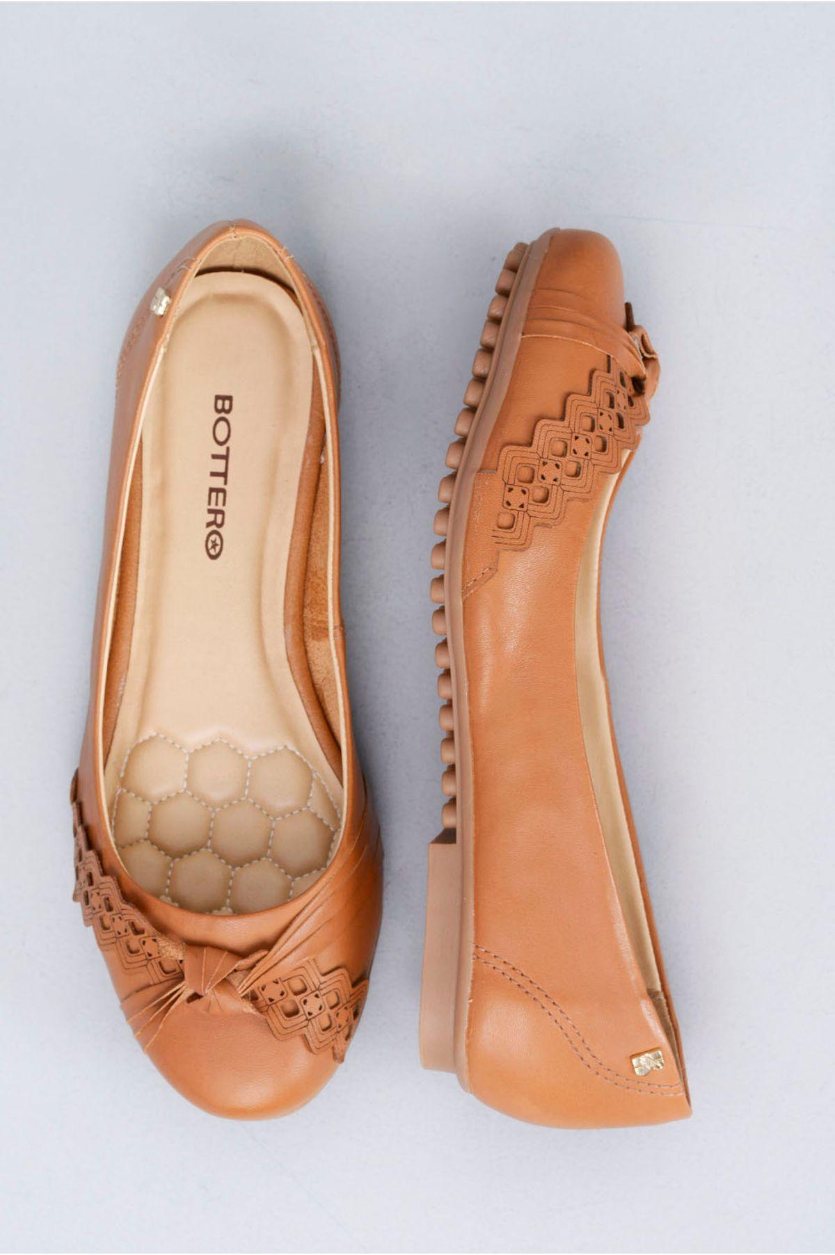 ce9ea1dd3b Sapatilha Feminina Aixa Bottero CR-CARAMELO - Mundial Calçados
