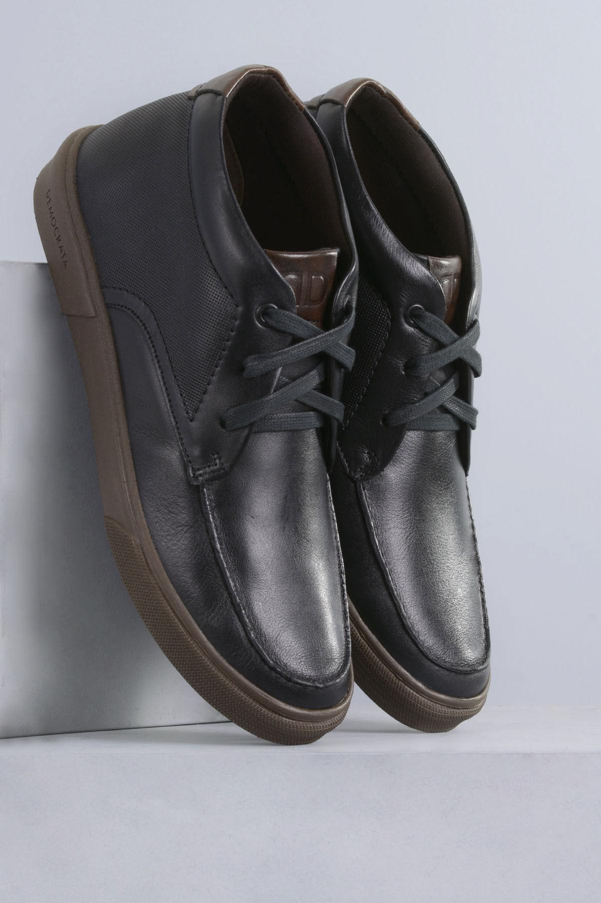 436786fd26 Sapatênis Masculino Democrata Hit CR-PRETO - Mundial Calçados