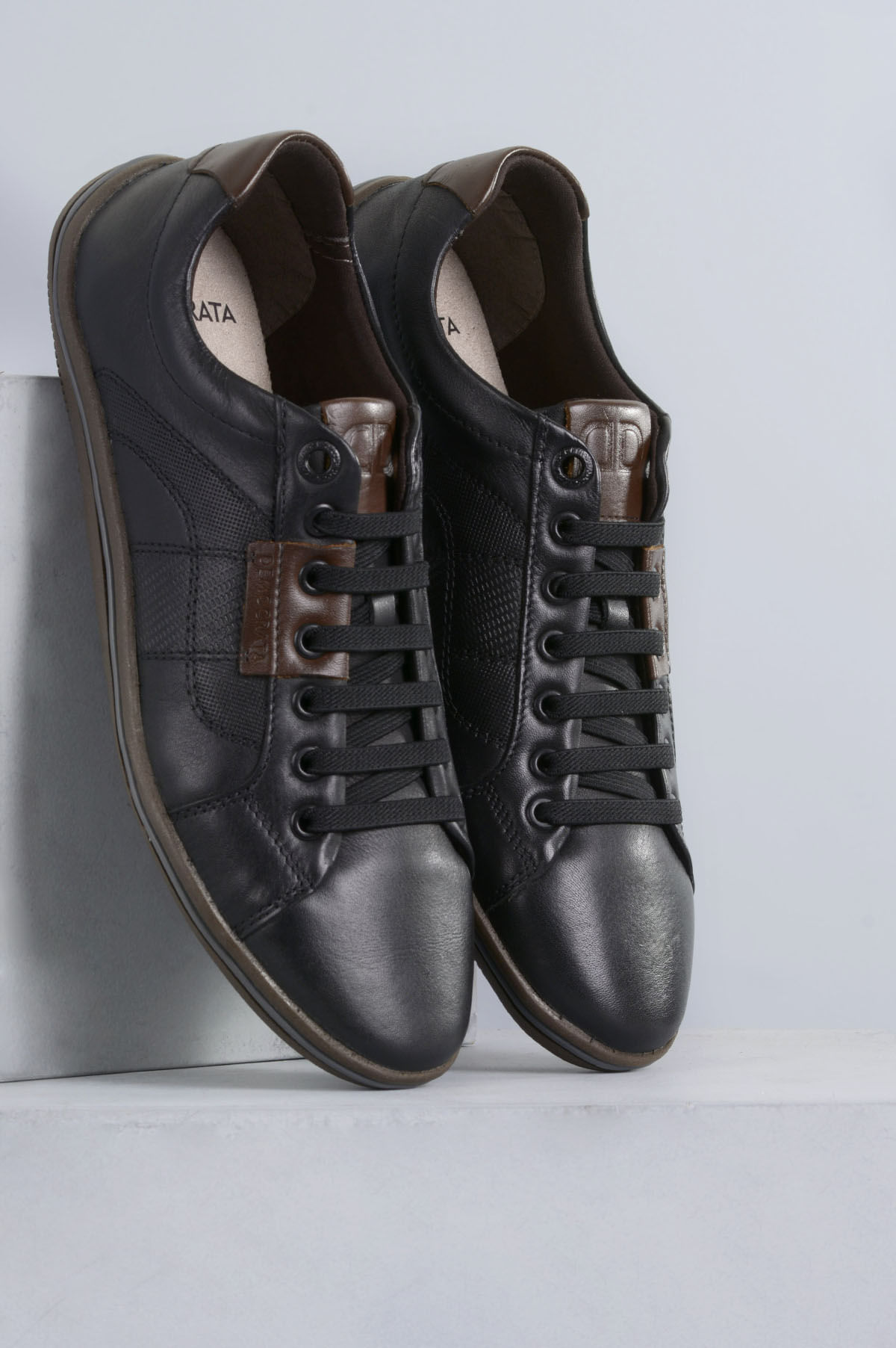 0ecab2242b4 Sapatênis Masculino Democrata Rave CR-PRETO - Mundial Calçados