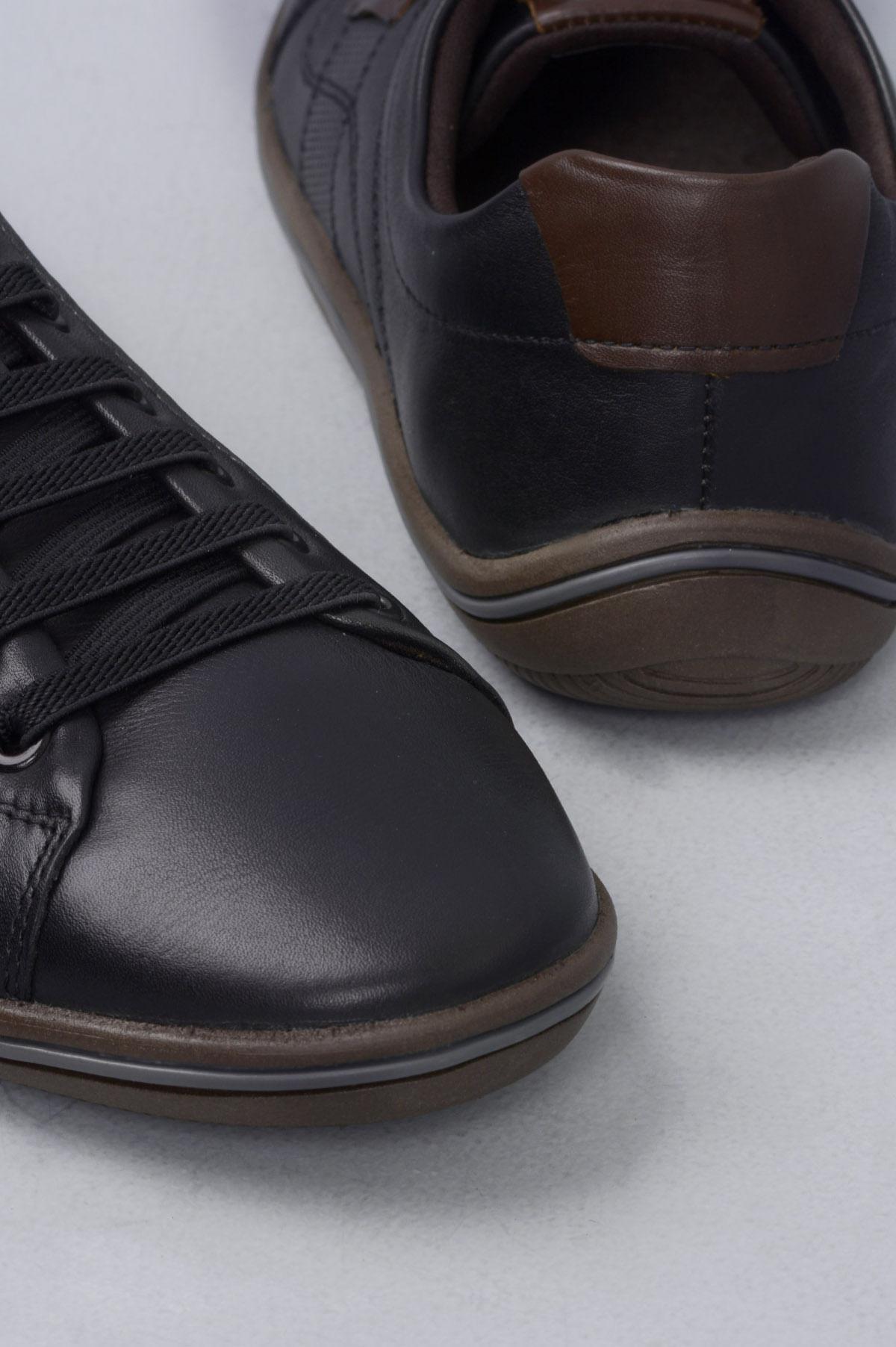 5caa9e5ff61 Sapatênis Masculino Democrata Rave CR-PRETO - Mundial Calçados