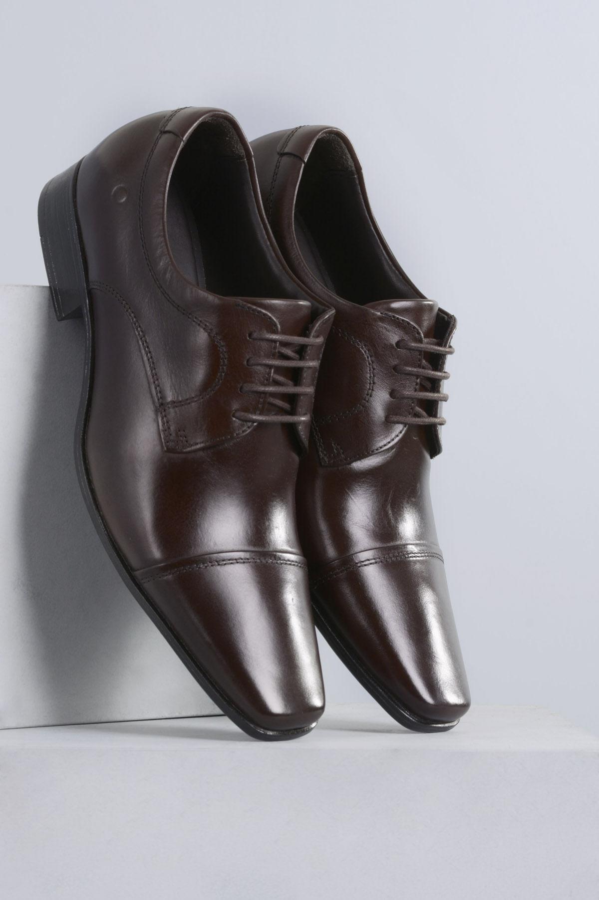 6d73f6c0564 Sapato Masculino Democrata Aspen CR TABACO - Mundial Calçados