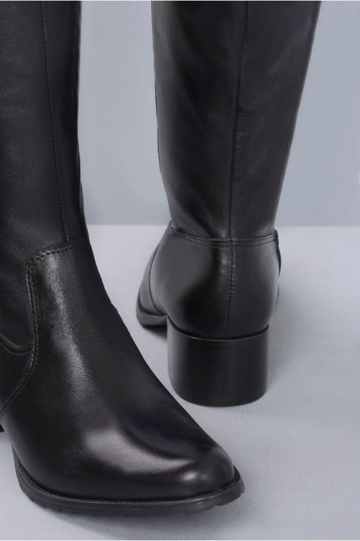 7aad7be9c Bota Feminina Cano Longo Monyser Mundial CR-PRETO - Mundial Calçados