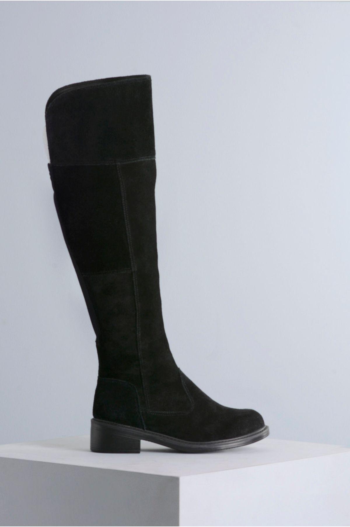 84ff89606 Bota Feminina Cano Longo Kailan Mundial CR-PRETO - Mundial Calçados