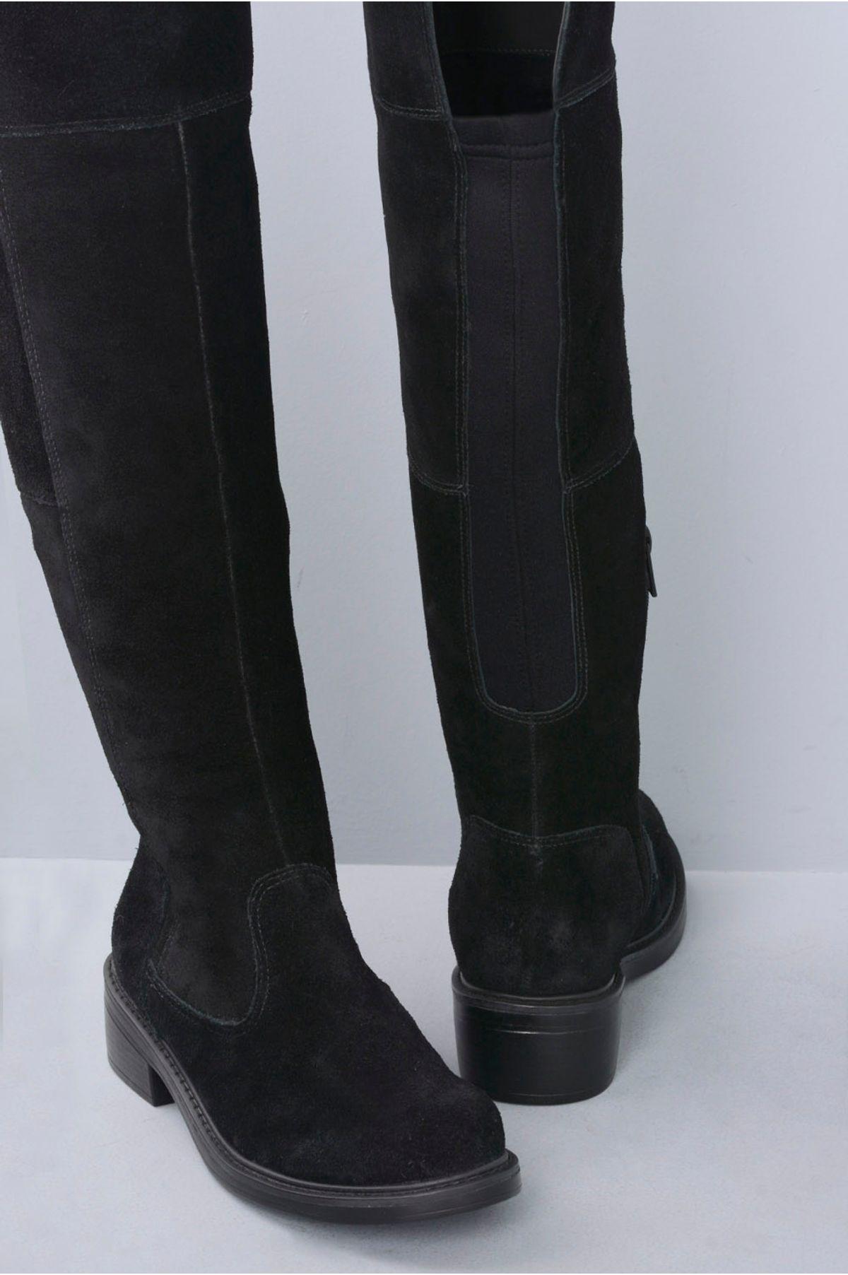 Bota Feminina Cano Longo Kailan Mundial CR-PRETO - Mundial Calçados 7417ec1ff9