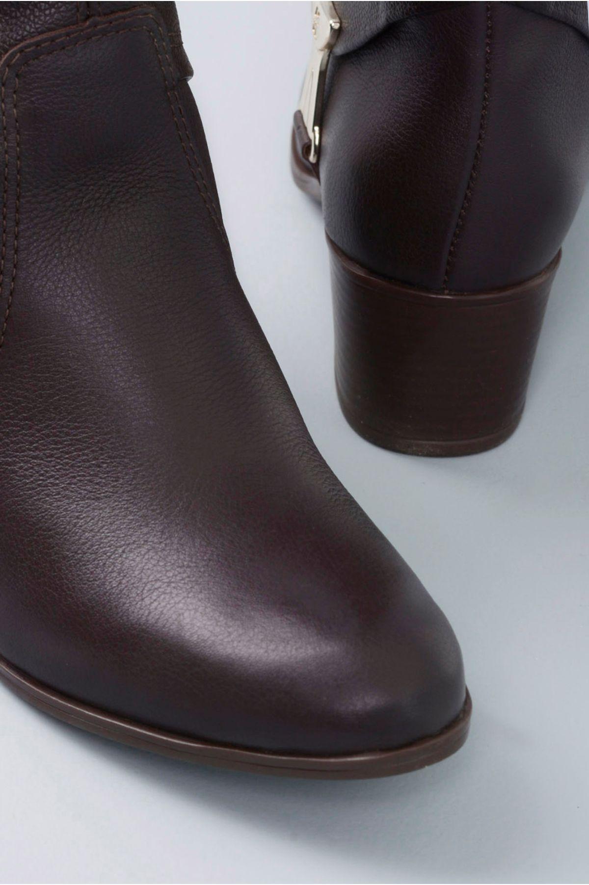Bota Feminina Salto Médio Mileidy Bottero CR - CAFE - Mundial Calçados 46cbde3fef