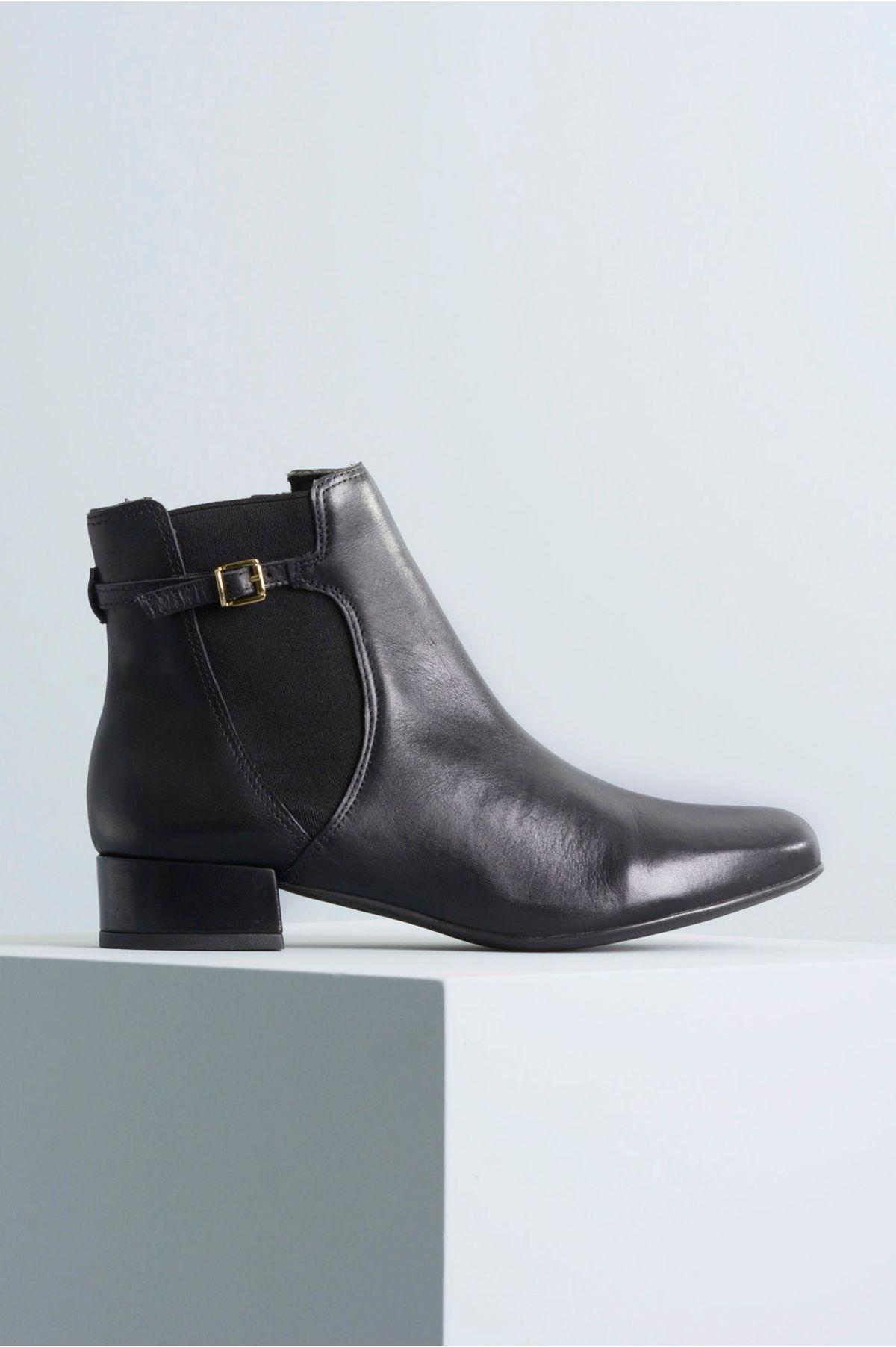 1fa1ca9d5784e Ankle Boot Salto Baixo Shyha Mundial CR-PRETO - Mundial Calçados