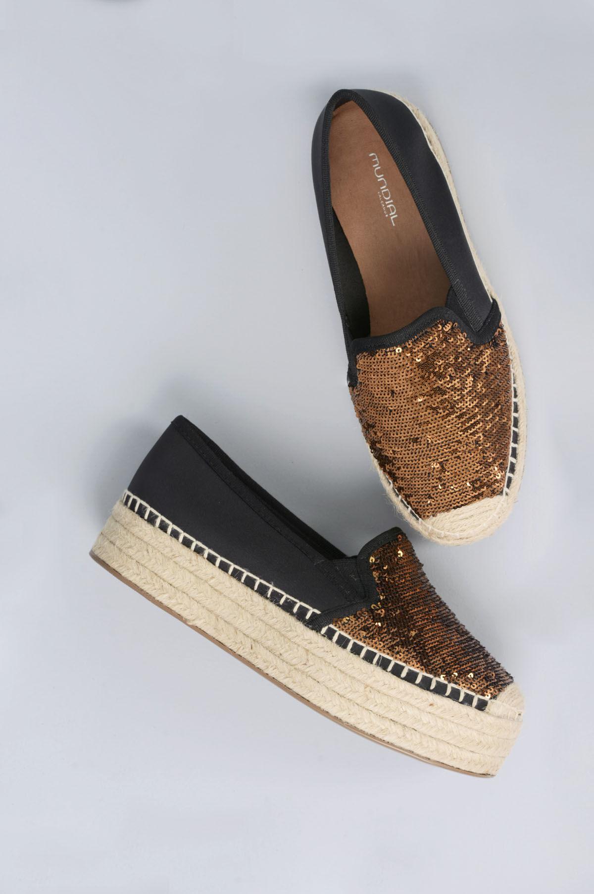 f3556f183 Sapato Feminino Espadrille Lara Mundial DIVERSOS - COBRE - Mundial ...