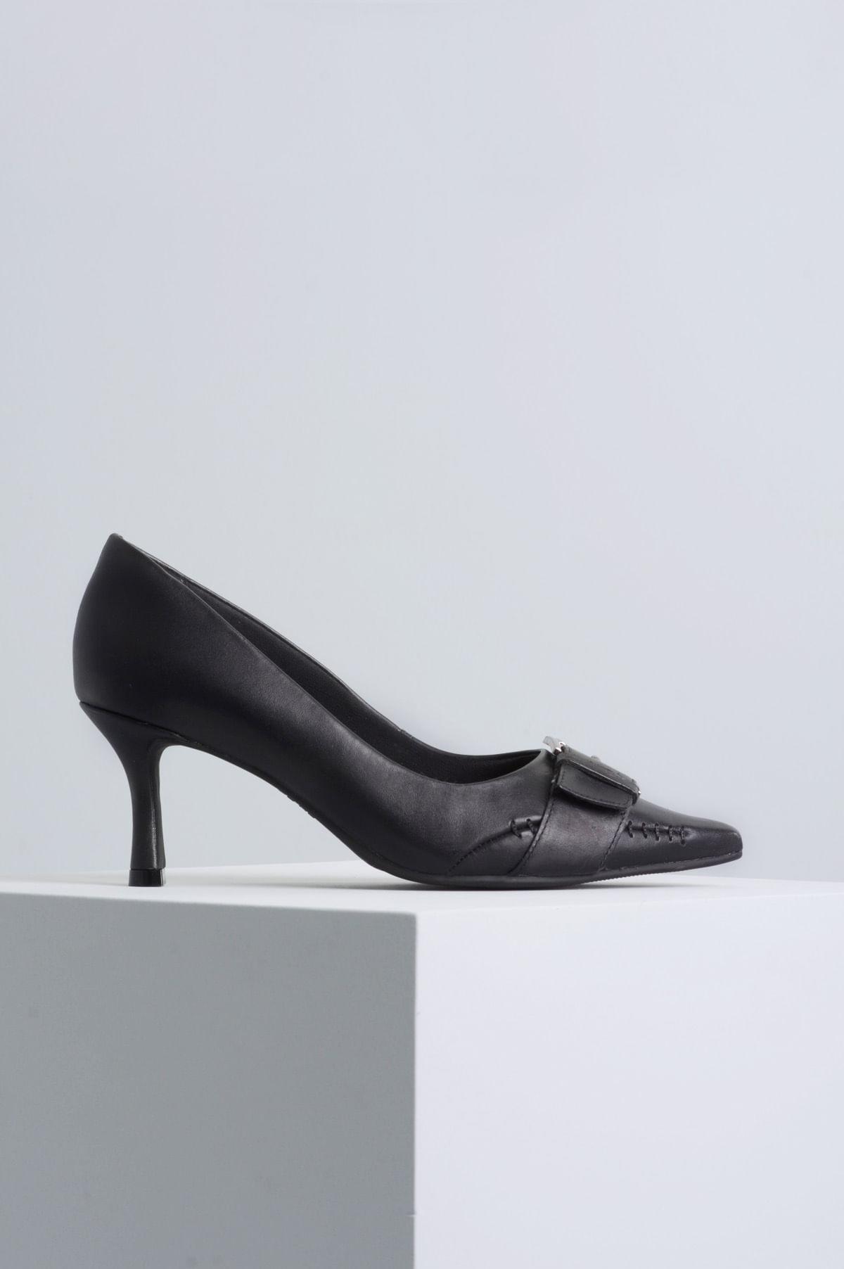 172661f14d Scarpin Salto Alto Marlise Ramarim CR-PRETO - Mundial Calçados
